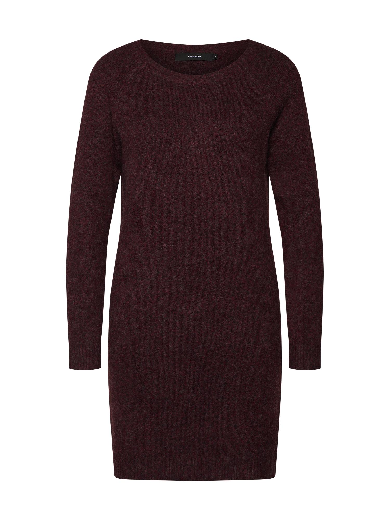 Úpletové šaty vínově červená VERO MODA