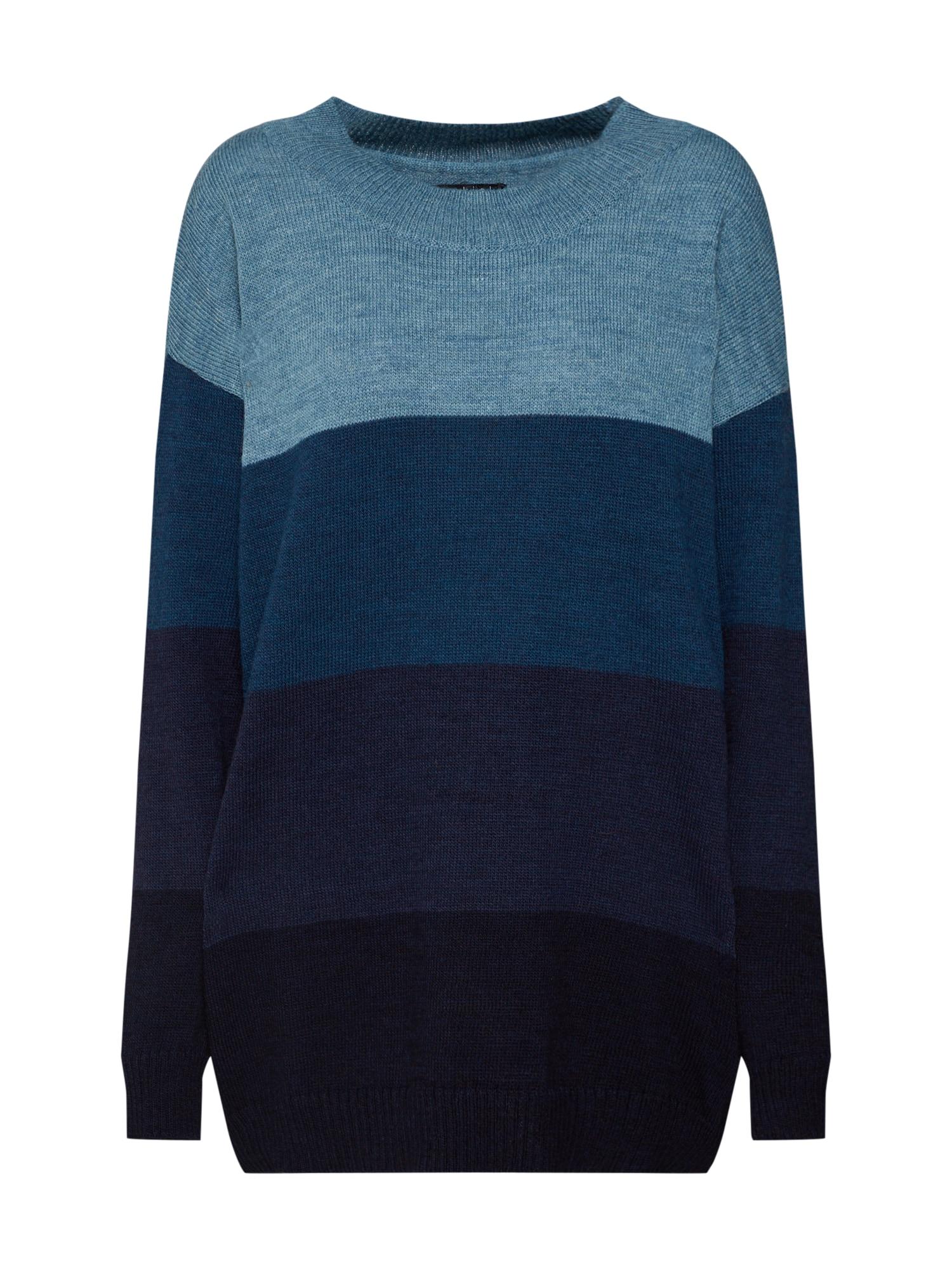 Maxi svetr Harmony Oversize Knit Sweater modrá námořnická modř Ezekiel
