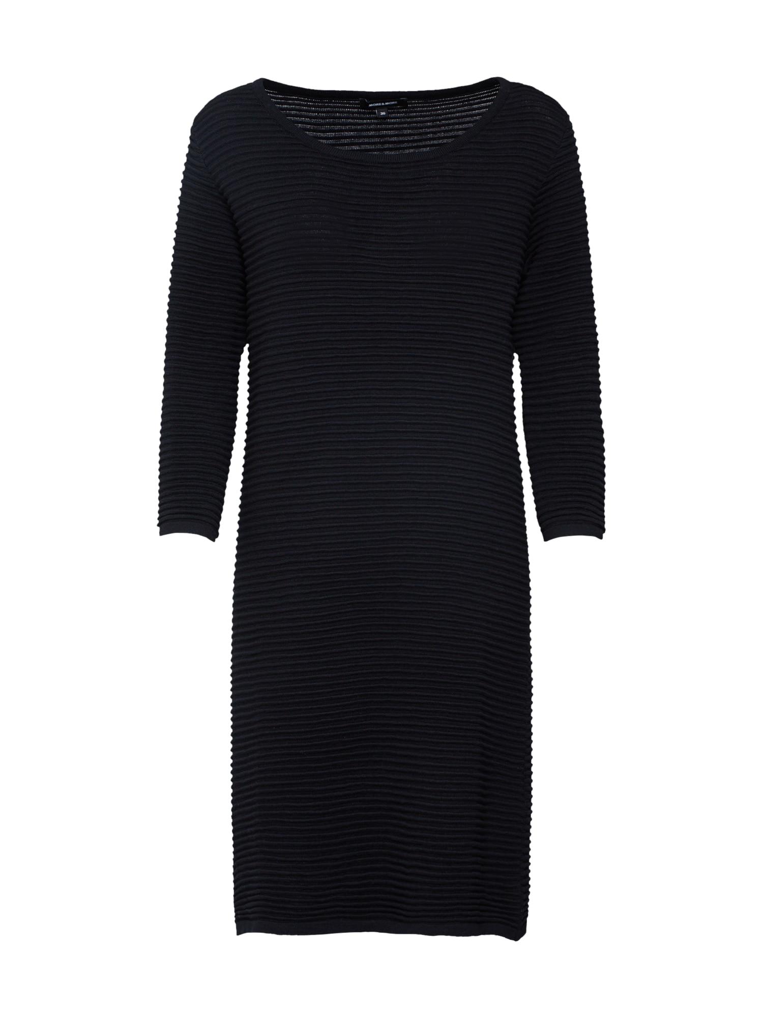 Úpletové šaty černá MORE & MORE