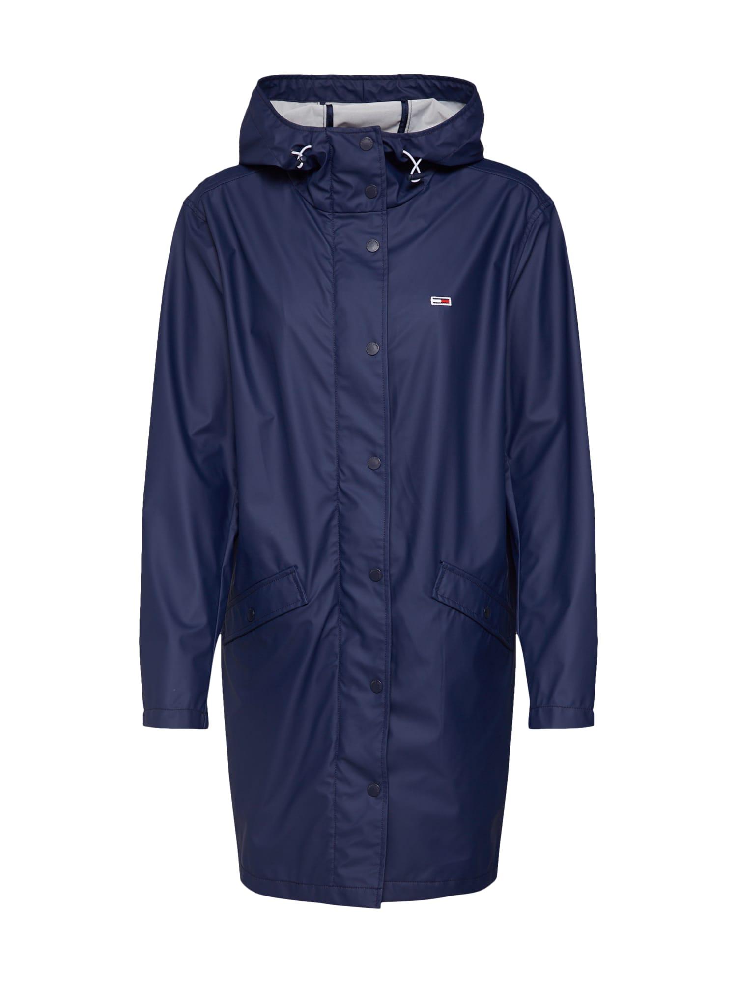 Přechodný kabát RAIN JACKET námořnická modř Tommy Jeans