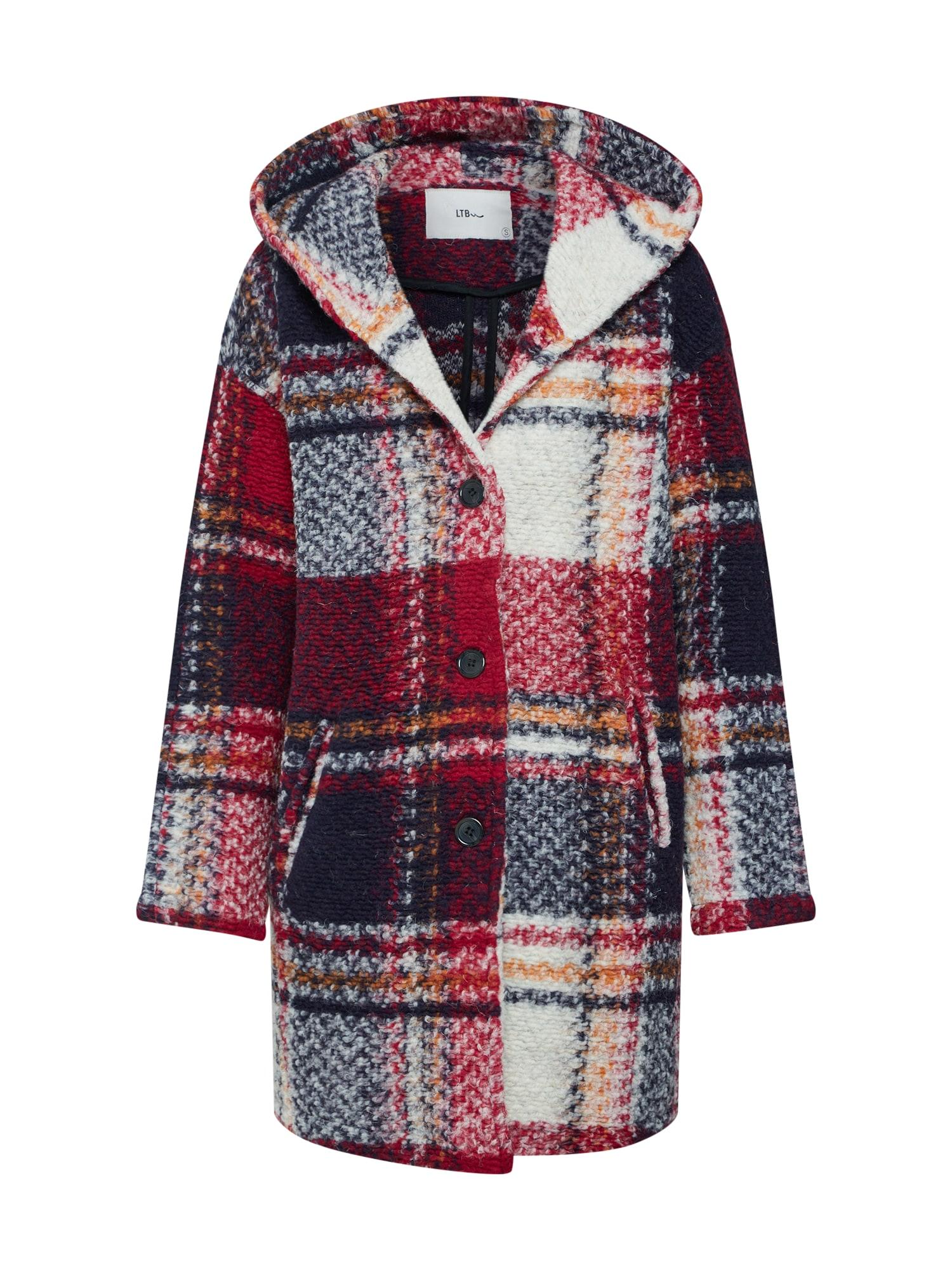 Přechodný kabát WAYIDA COAT červená černá bílá LTB