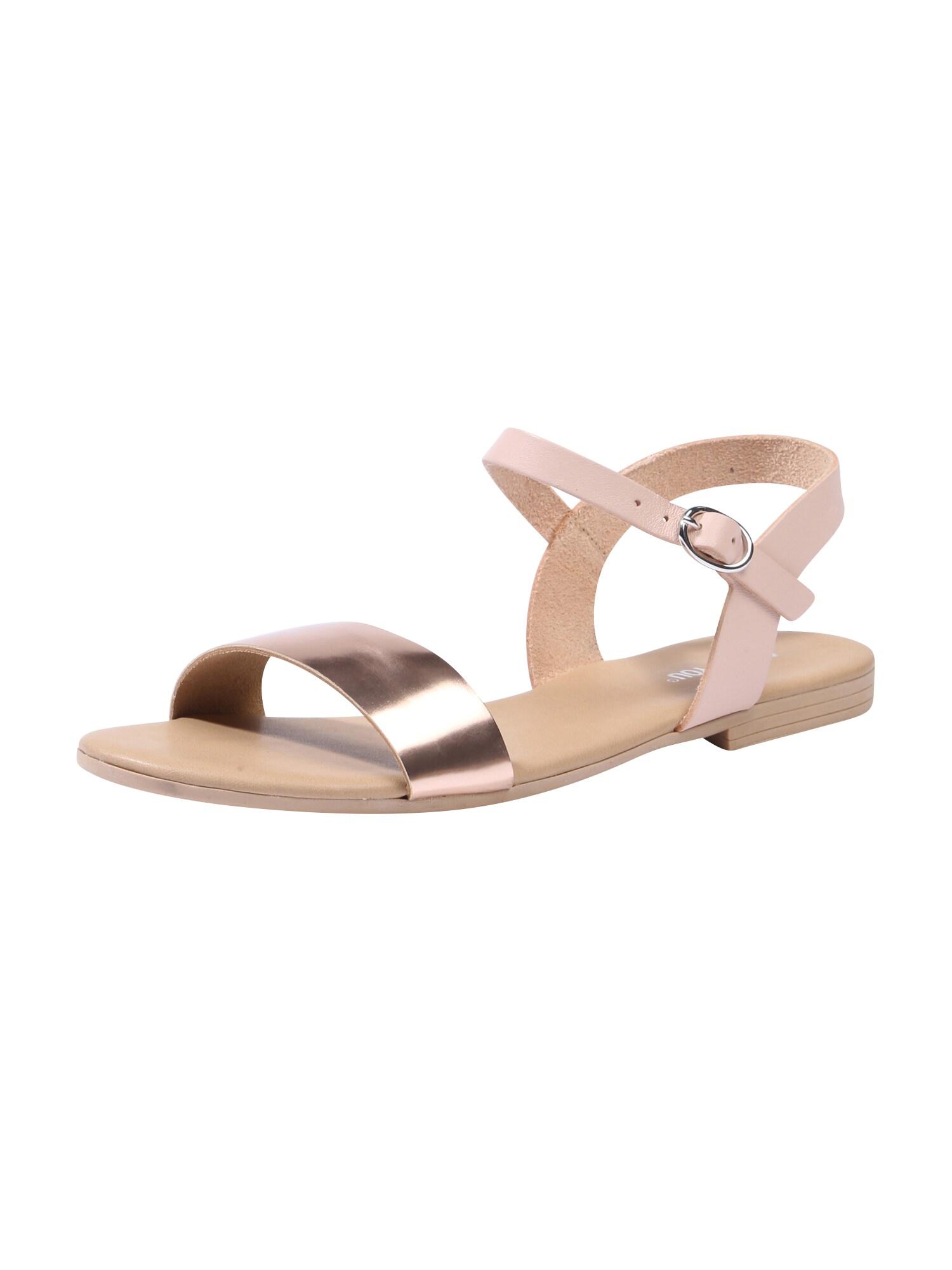 Páskové sandály JENNIFER růžově zlatá ABOUT YOU