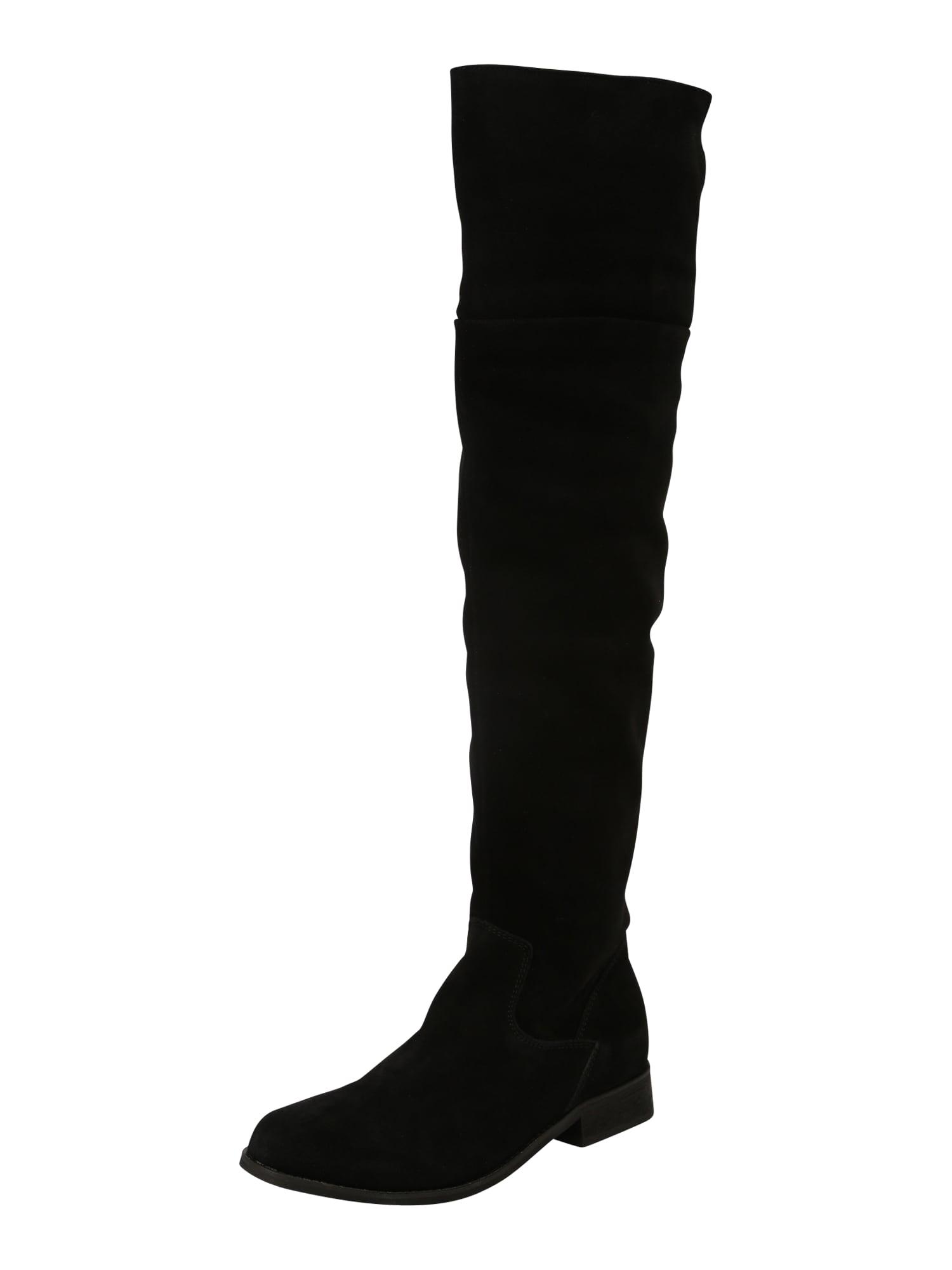 Kozačky nad kolena černá Zign