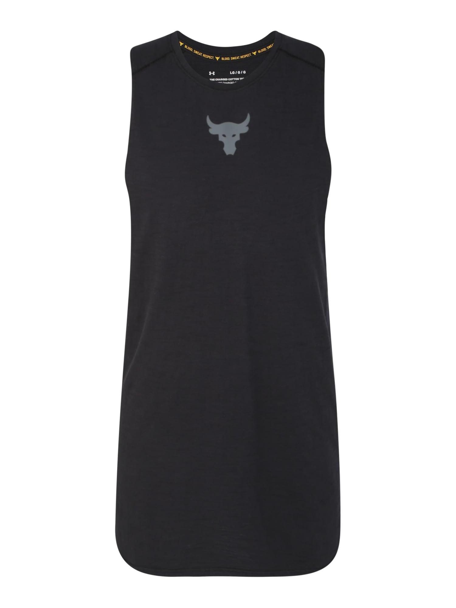 UNDER ARMOUR Funkční tričko 'Project Rock Charged'  tmavě šedá / černá