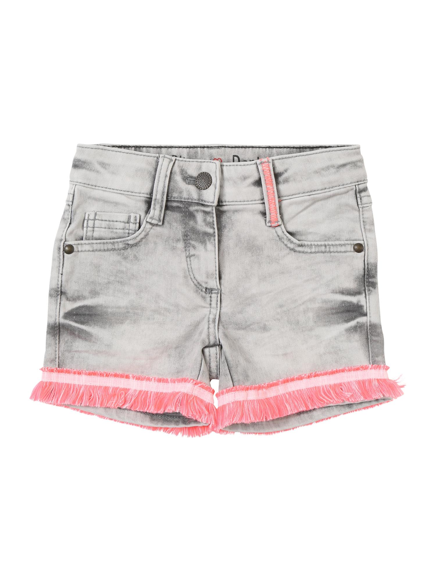 Džíny šedá džínová pink pastelově růžová S.Oliver Junior