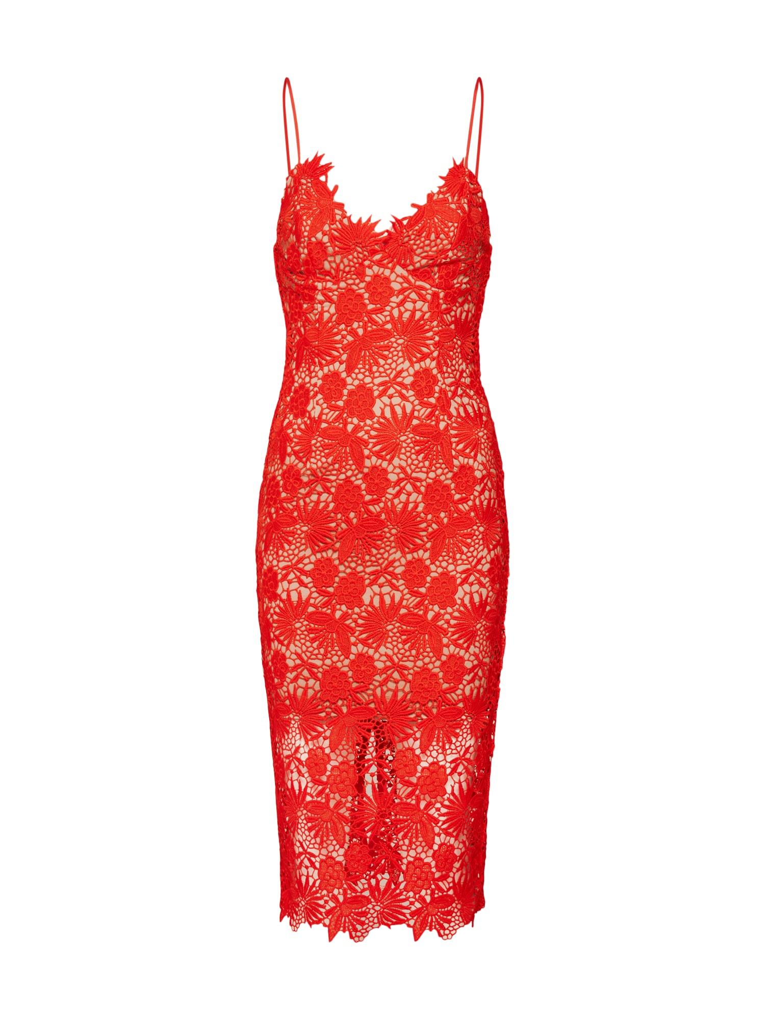 Šaty TAYLA červená Bardot