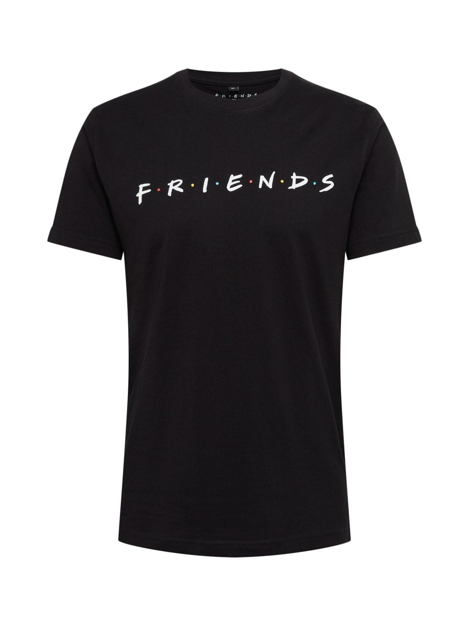 Tričko Friends Logo Tee černá bílá Mister Tee