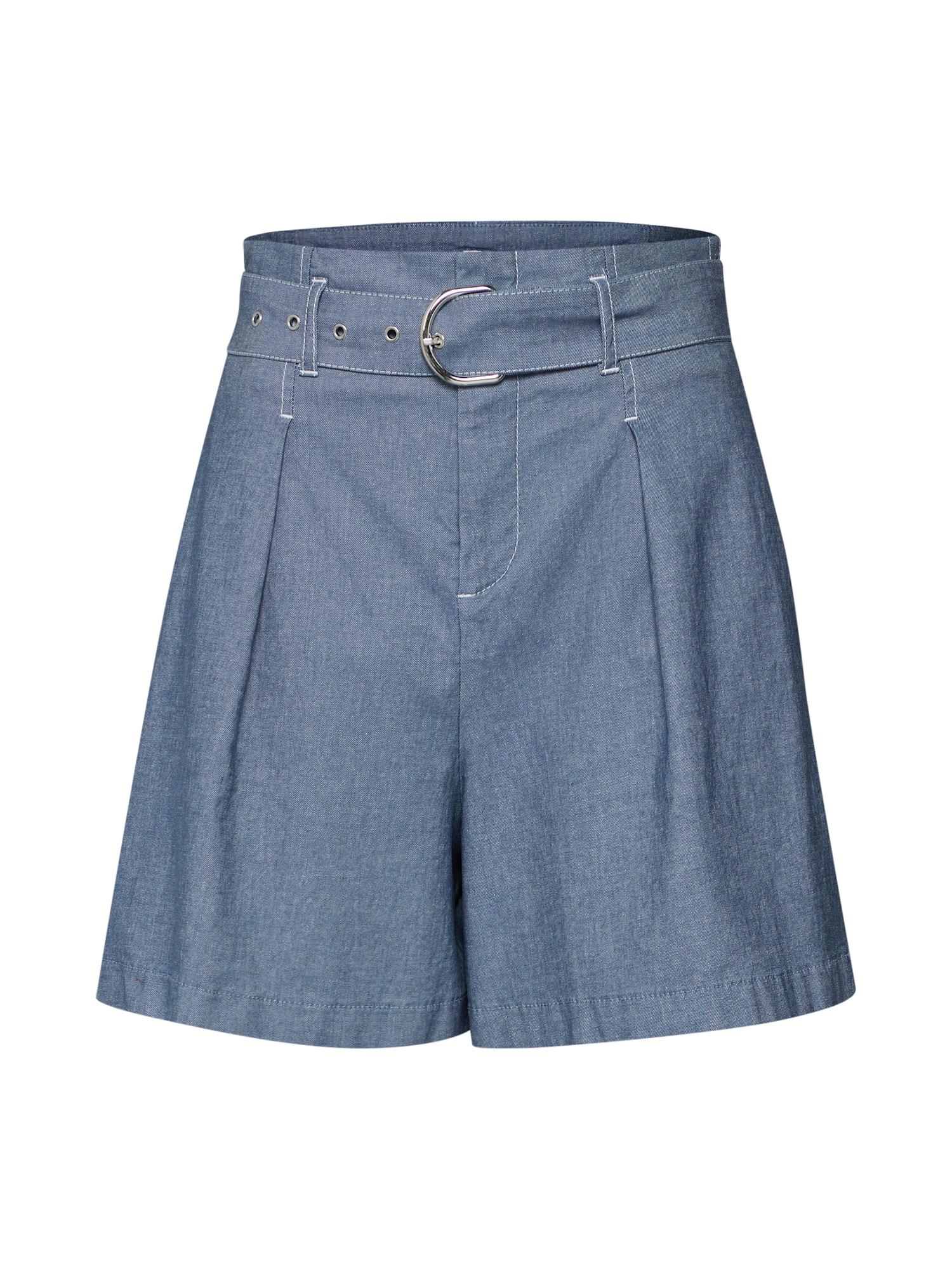 Kalhoty se sklady v pase Sadeni-W modrá BOSS