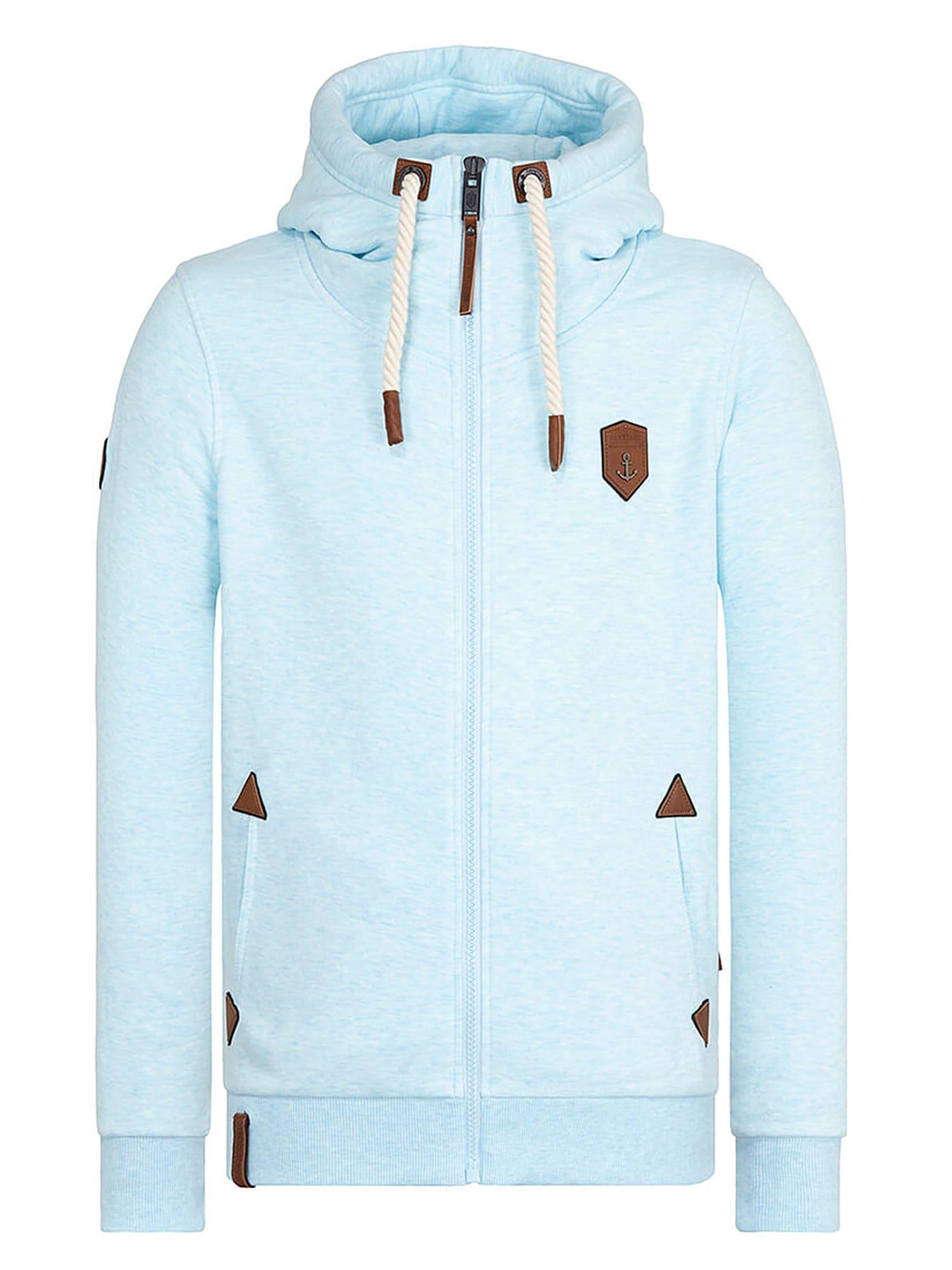 Mikina s kapucí aqua modrá Naketano
