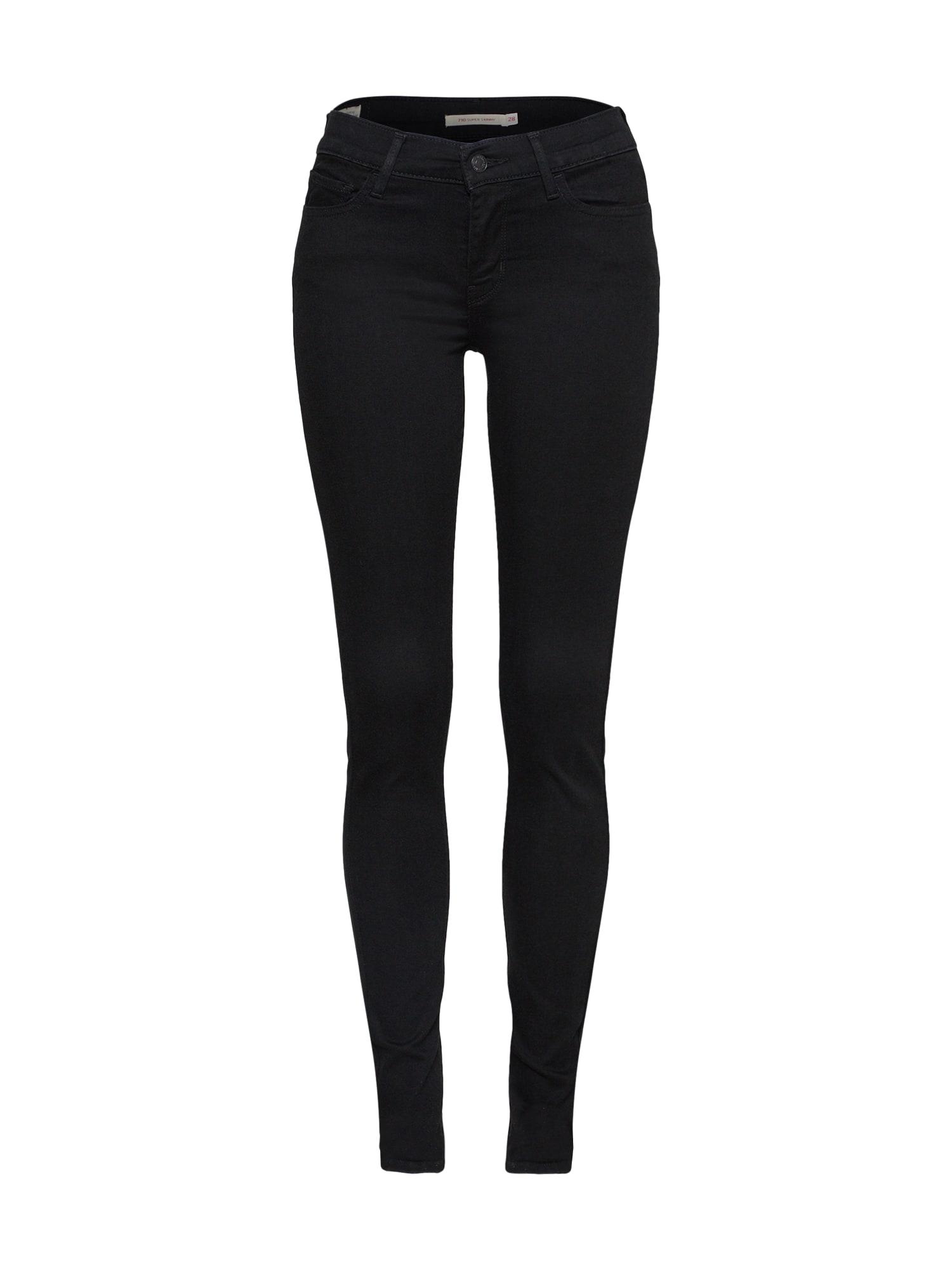 LEVI'S Dames Jeans 710 Innovation Super Skinny black denim