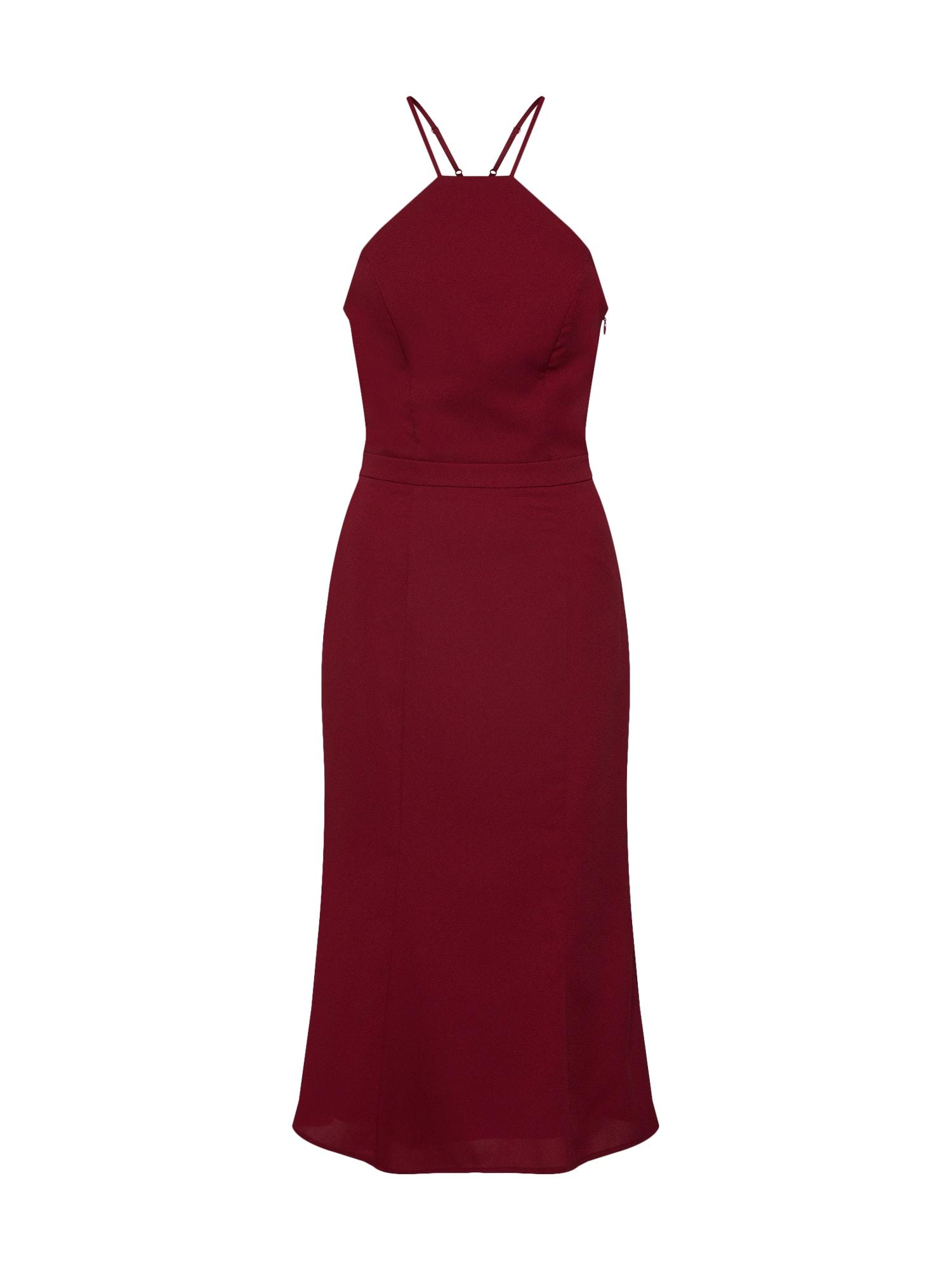 Společenské šaty Chi Chi Stella burgundská červeň Chi Chi London
