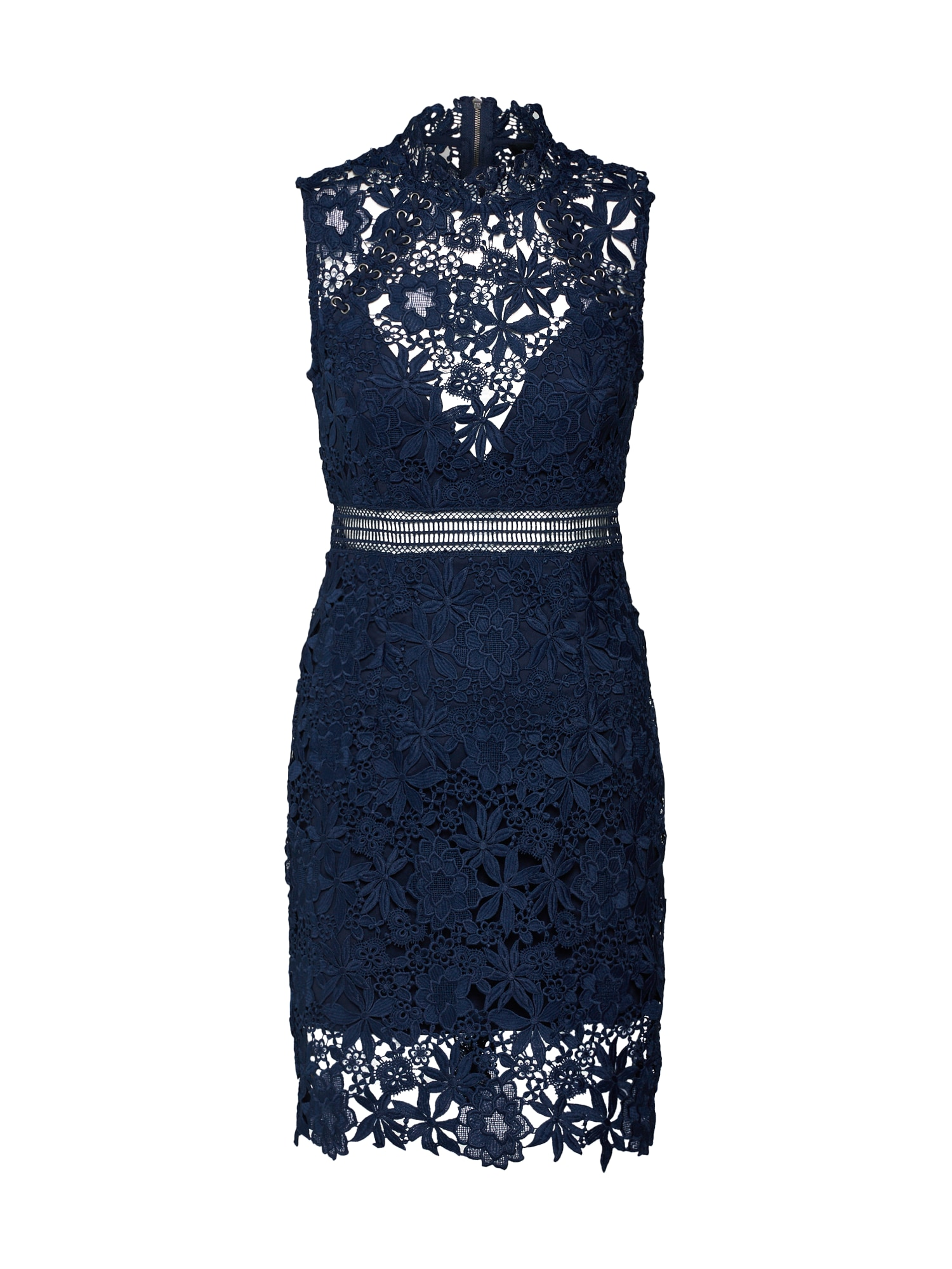 Koktejlové šaty PARIS modrá Bardot