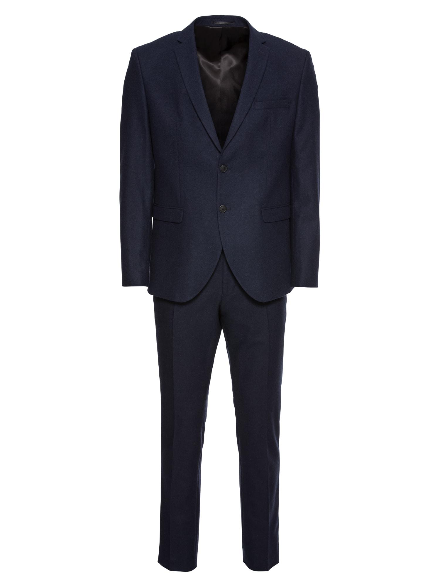 Oblek SLHSLIM-MYLOIVER DK NAVY SUIT B námořnická modř SELECTED HOMME