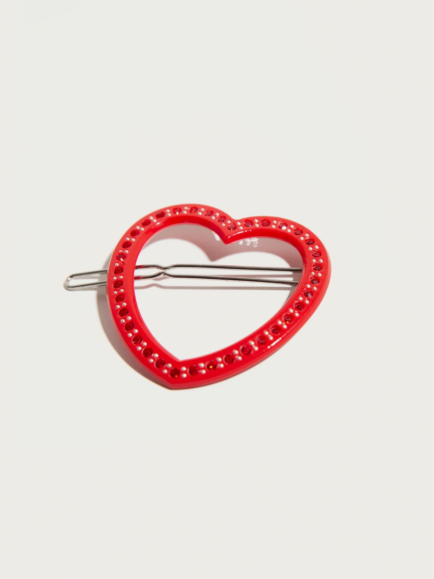 Šperky do vlasů Open Heart  červená Pico For EDITED