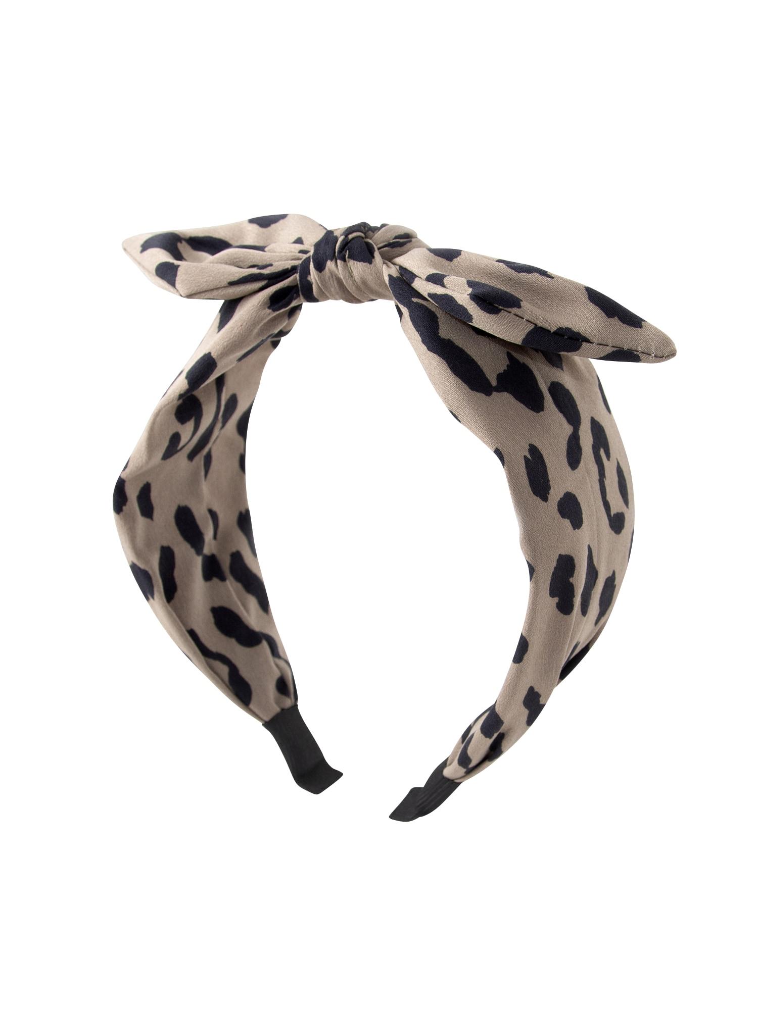 Šperky do vlasů tan animal headband  béžová  černá Orelia