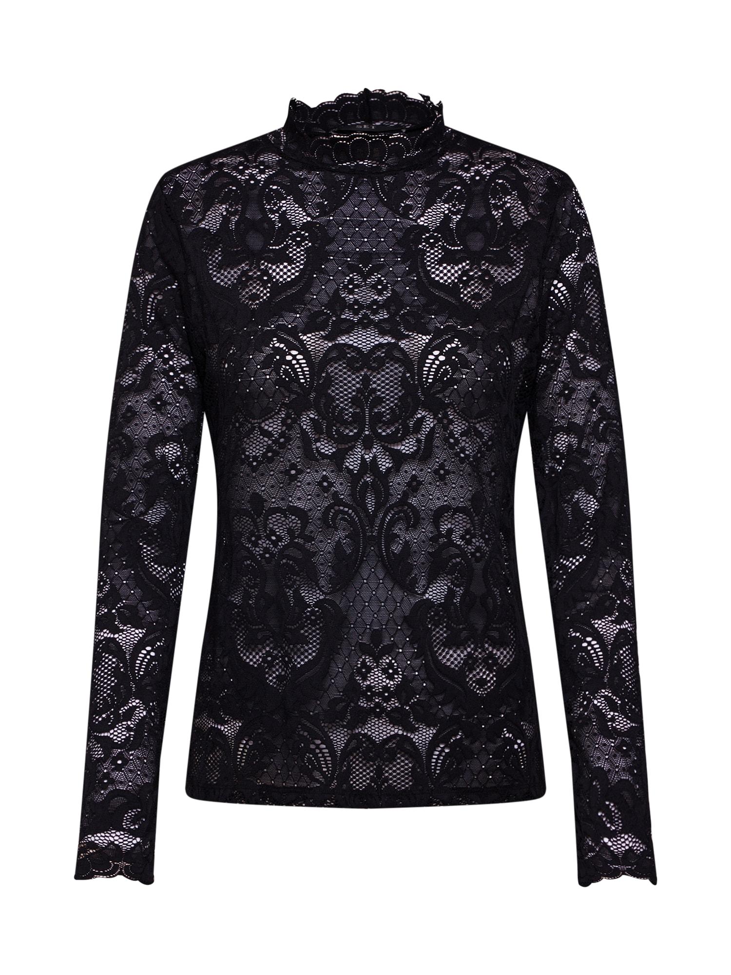 Tričko Spitzenshirt černá SET