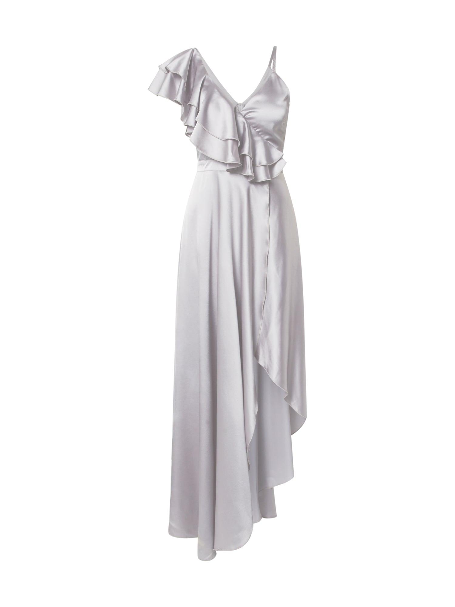 Forever Unique Kokteilové šaty  svetlosivá / striebornošedá