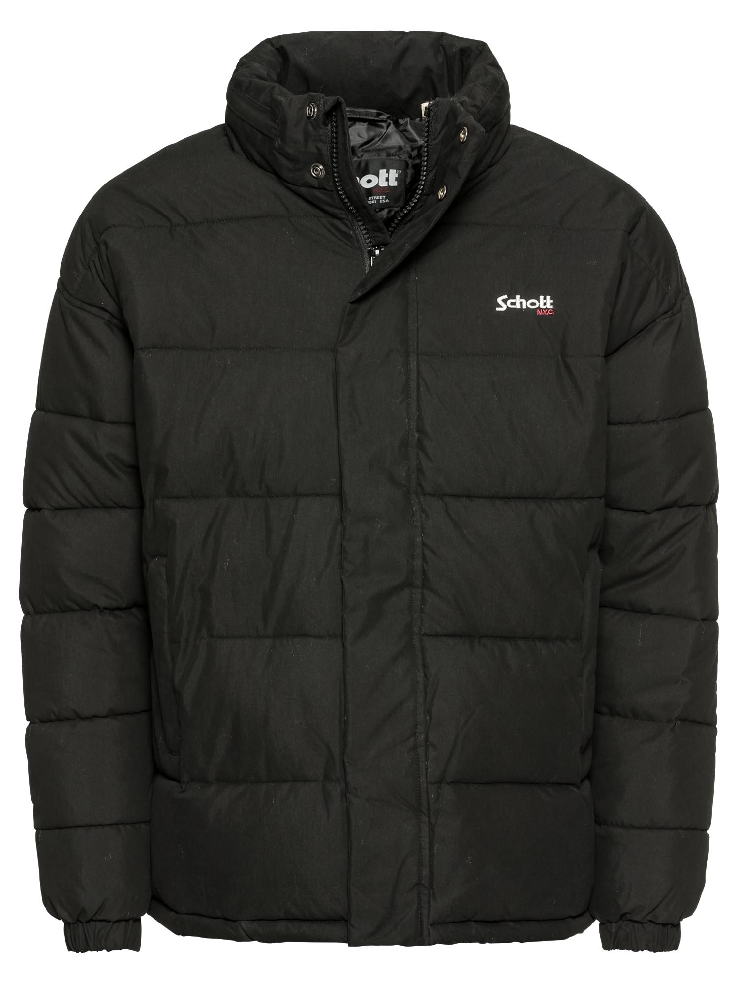 Schott NYC Zimní bunda 'NEBRASKA'  černá