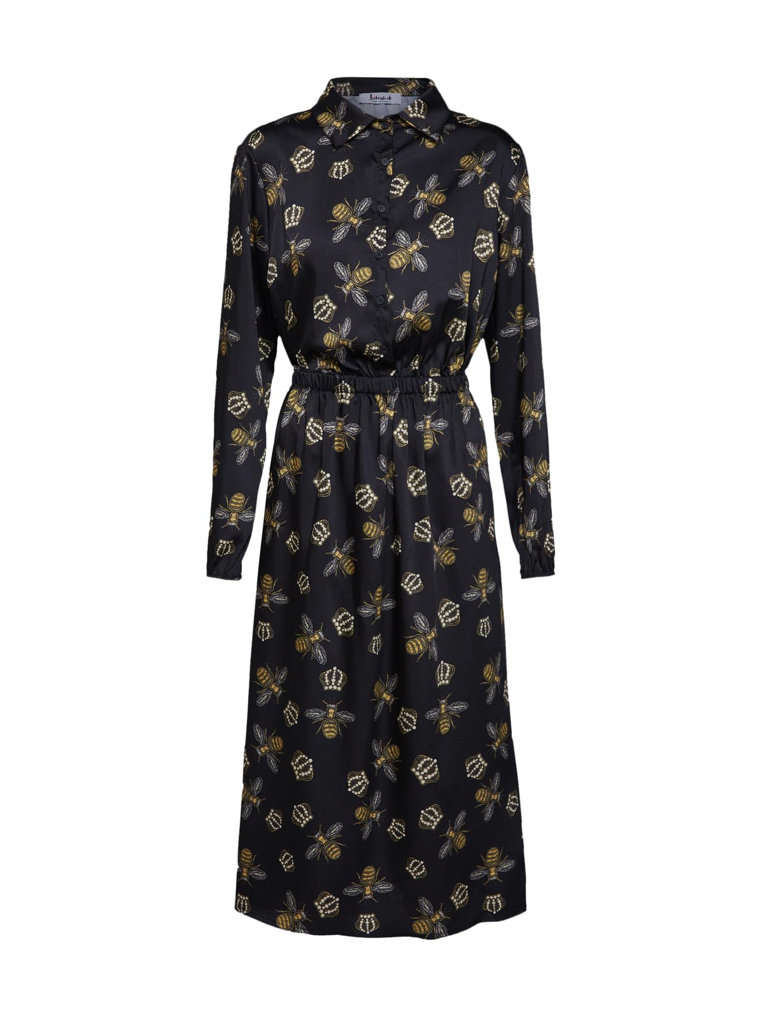 Košilové šaty LG007560 černá Liebesglück