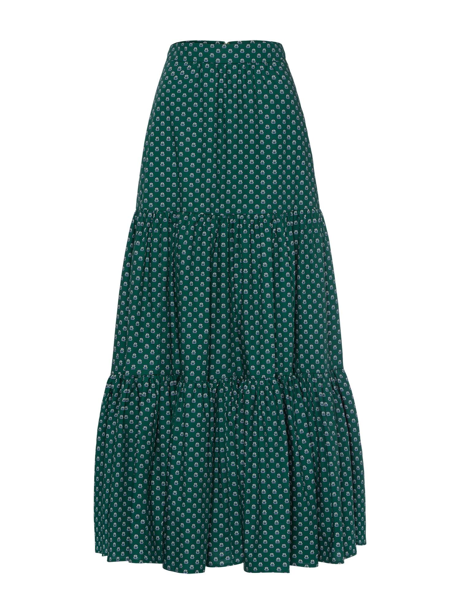 Sukně Liberty London smaragdová bílá IVY & OAK
