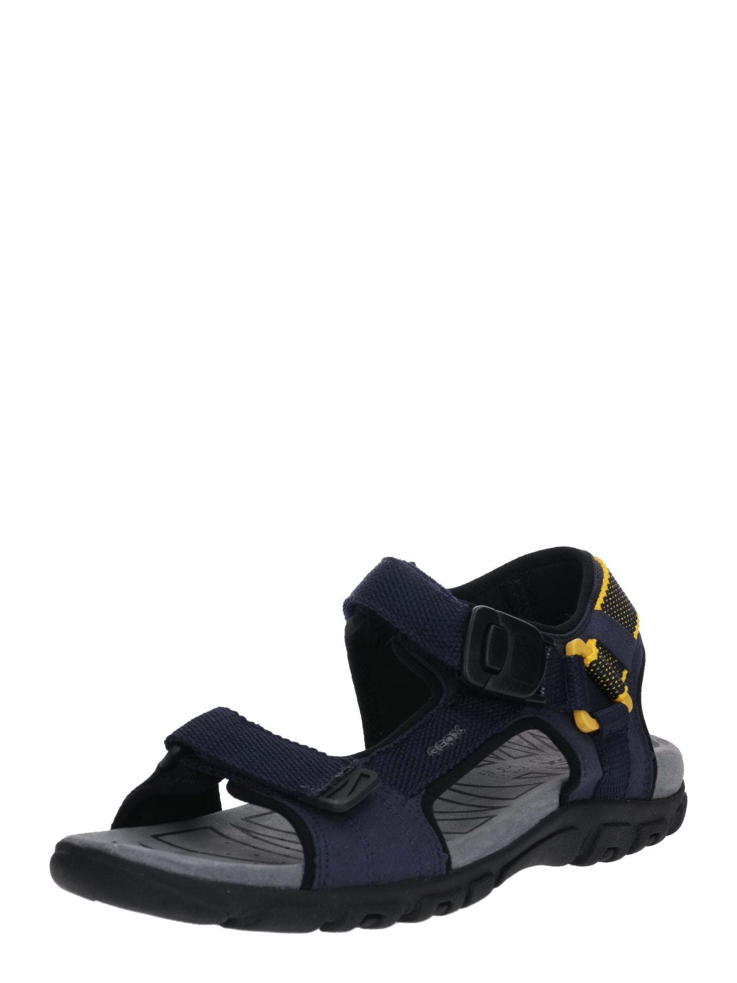 Sandály Uomo Strada námořnická modř žlutá GEOX