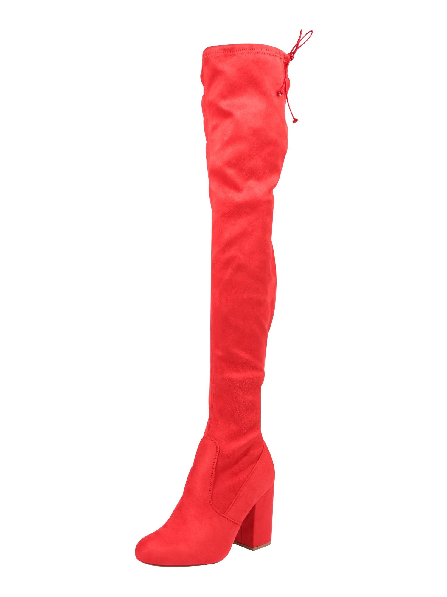 Even&odd, Dames Overknee laarzen, rood