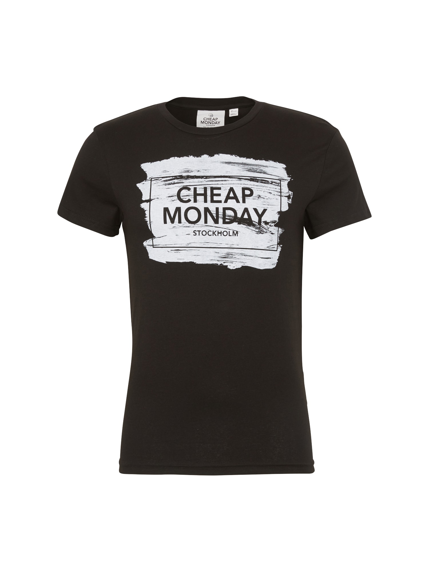 CHEAP MONDAY Heren Shirt Standard tee Paint box zwart wit