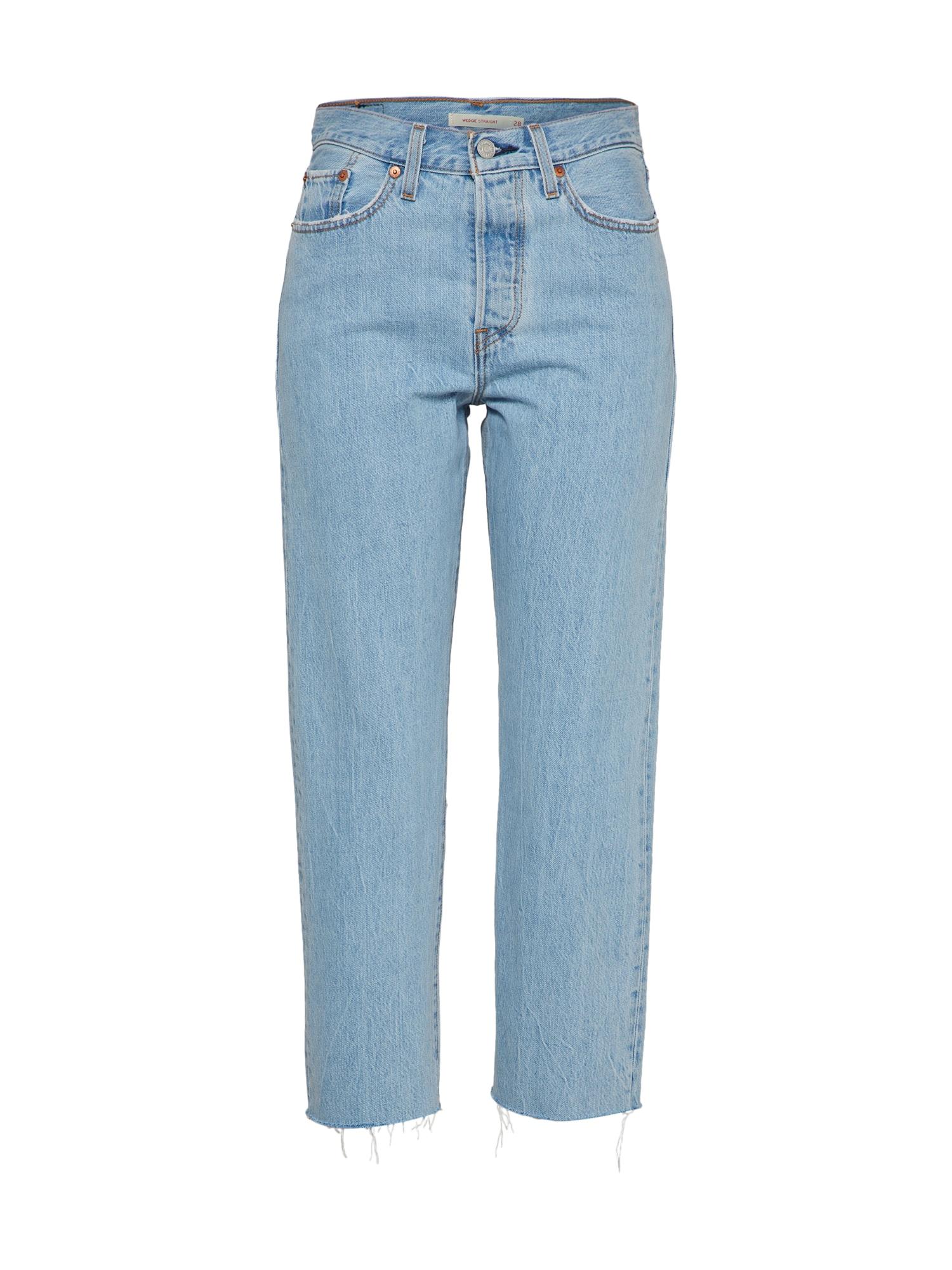 LEVI'S Dames Jeans Wedgie Straight blue denim