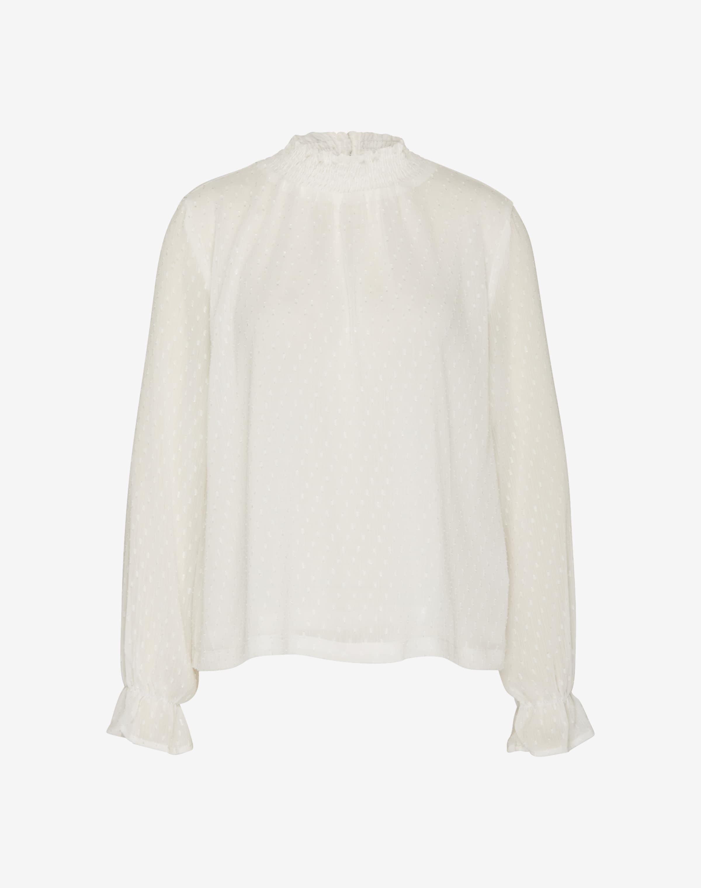 Semitransparente Bluse mit Pünktchenmuster von Minimum