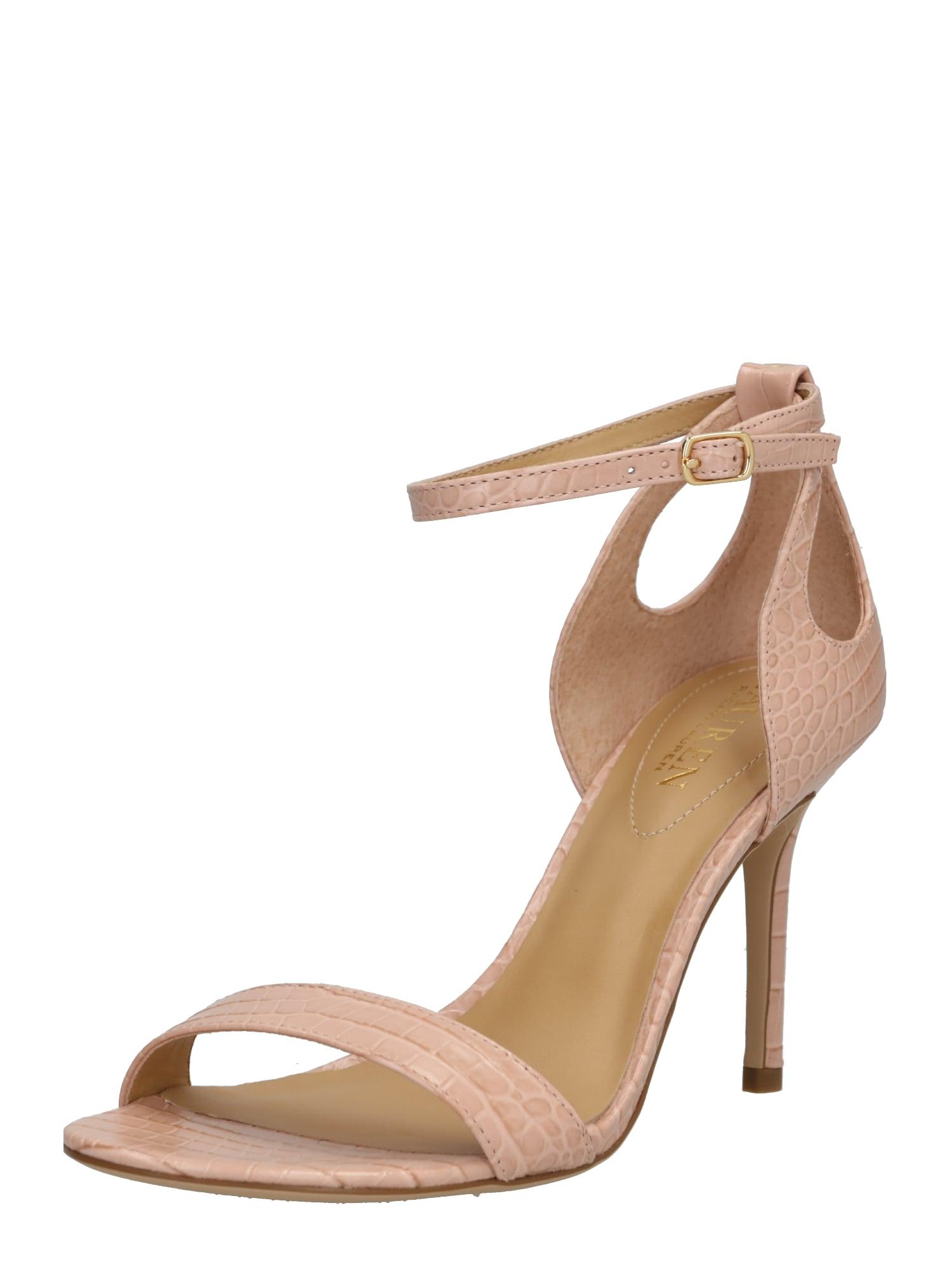 Sandály GRETCHIN-SANDALS růžová Lauren Ralph Lauren