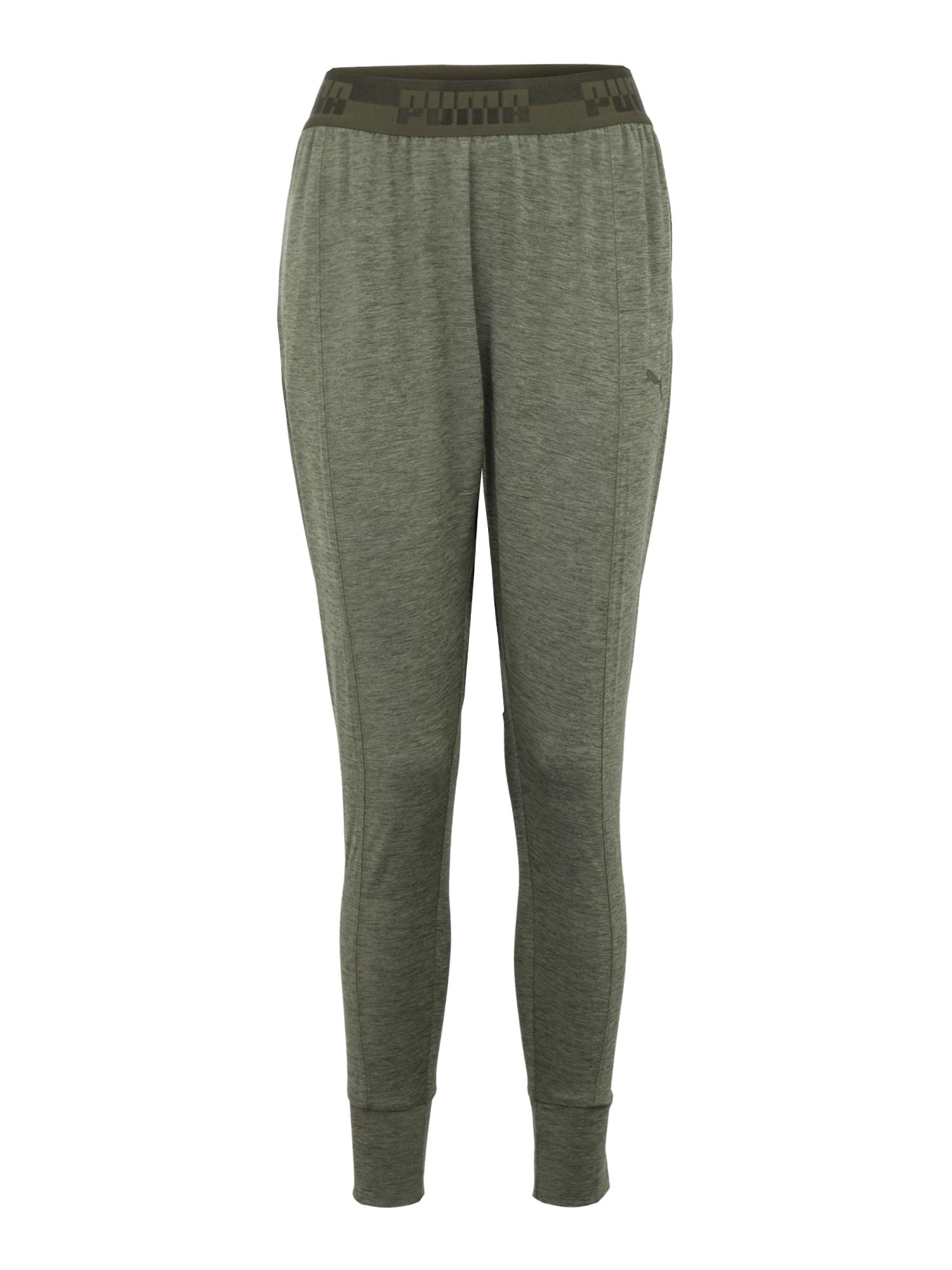 Sportovní kalhoty SOFT SPORT Drapey zelená khaki PUMA