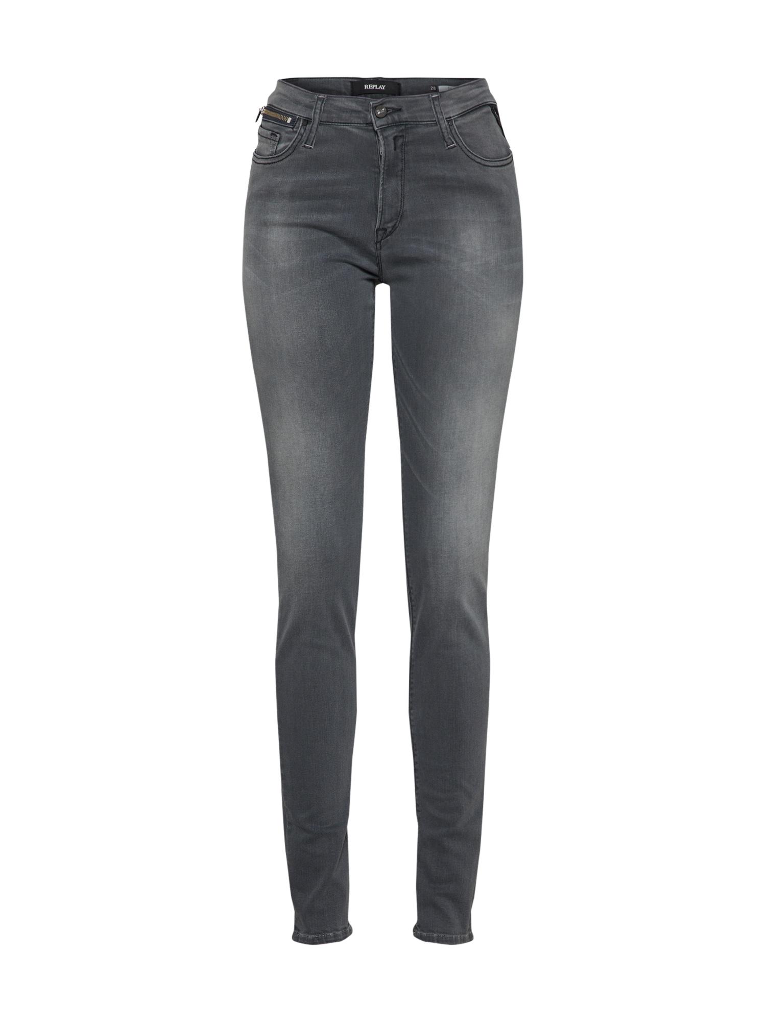 REPLAY Dames Jeans ELAEBER grey denim