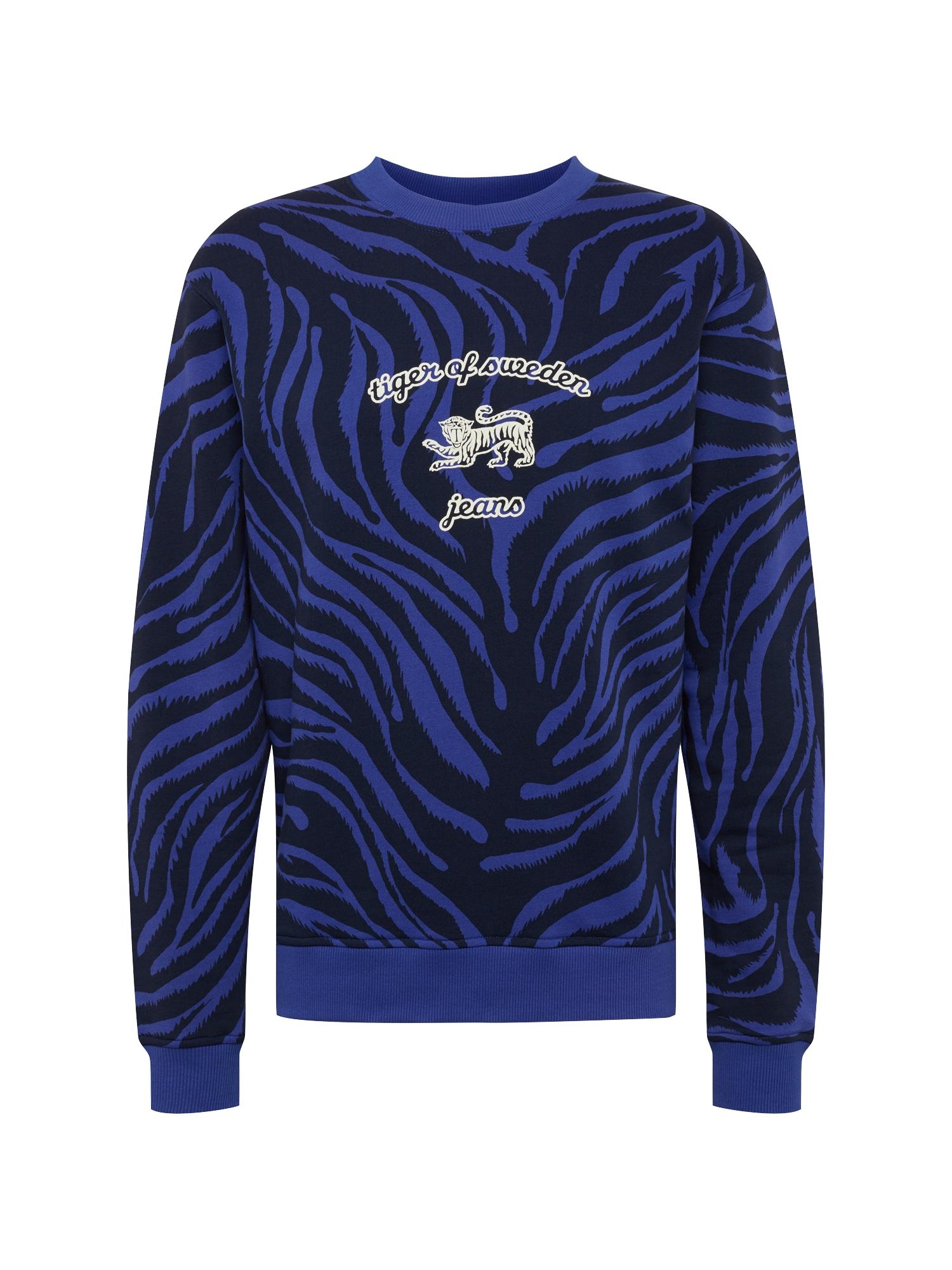 Mikina Tana T fialkově modrá černá bílá Tiger Of Sweden