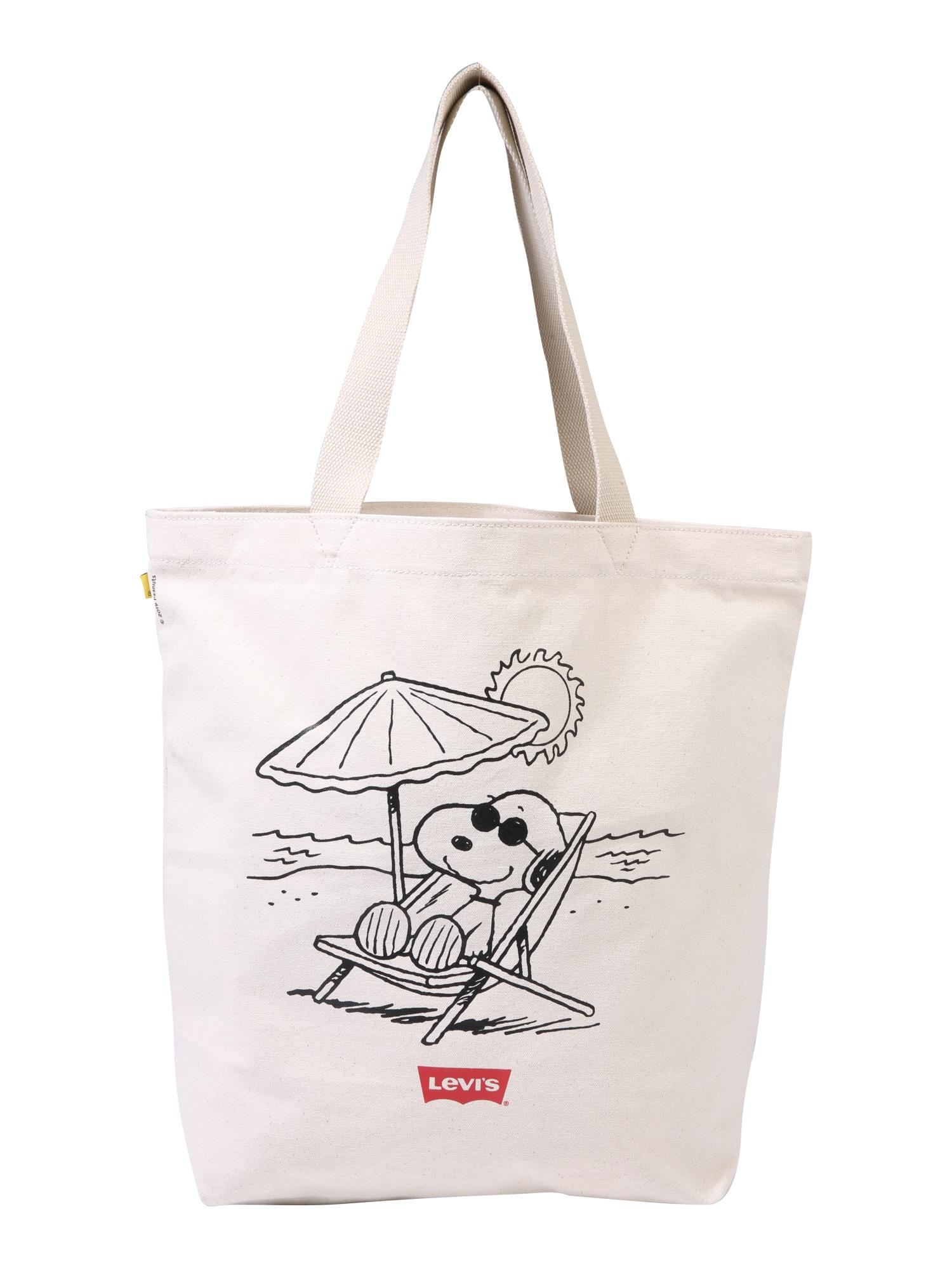 LEVIS Nákupní taška Peanuts Snoopy Levis® Beach Tote režná LEVI'S
