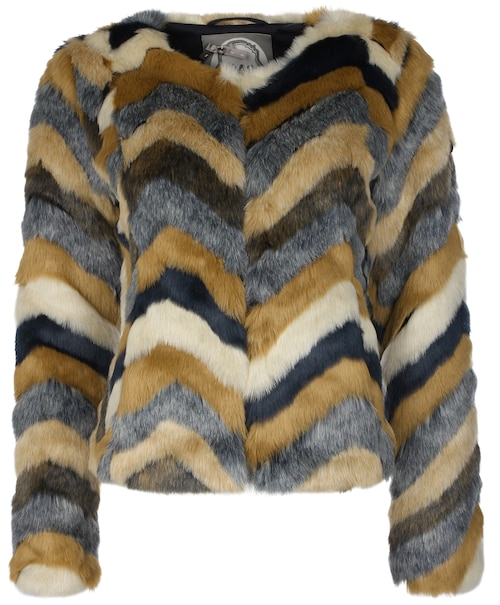 Diese stylische Kunstfelljacke für Damen ist ein absolutes Must-Have! Das täuschend echte Kunstfell weist ein wunderschönes Muster auf. Geschlossen wird die Jacke über angebrachte Haken und Ösen, welche zum einen praktisch sind, zum