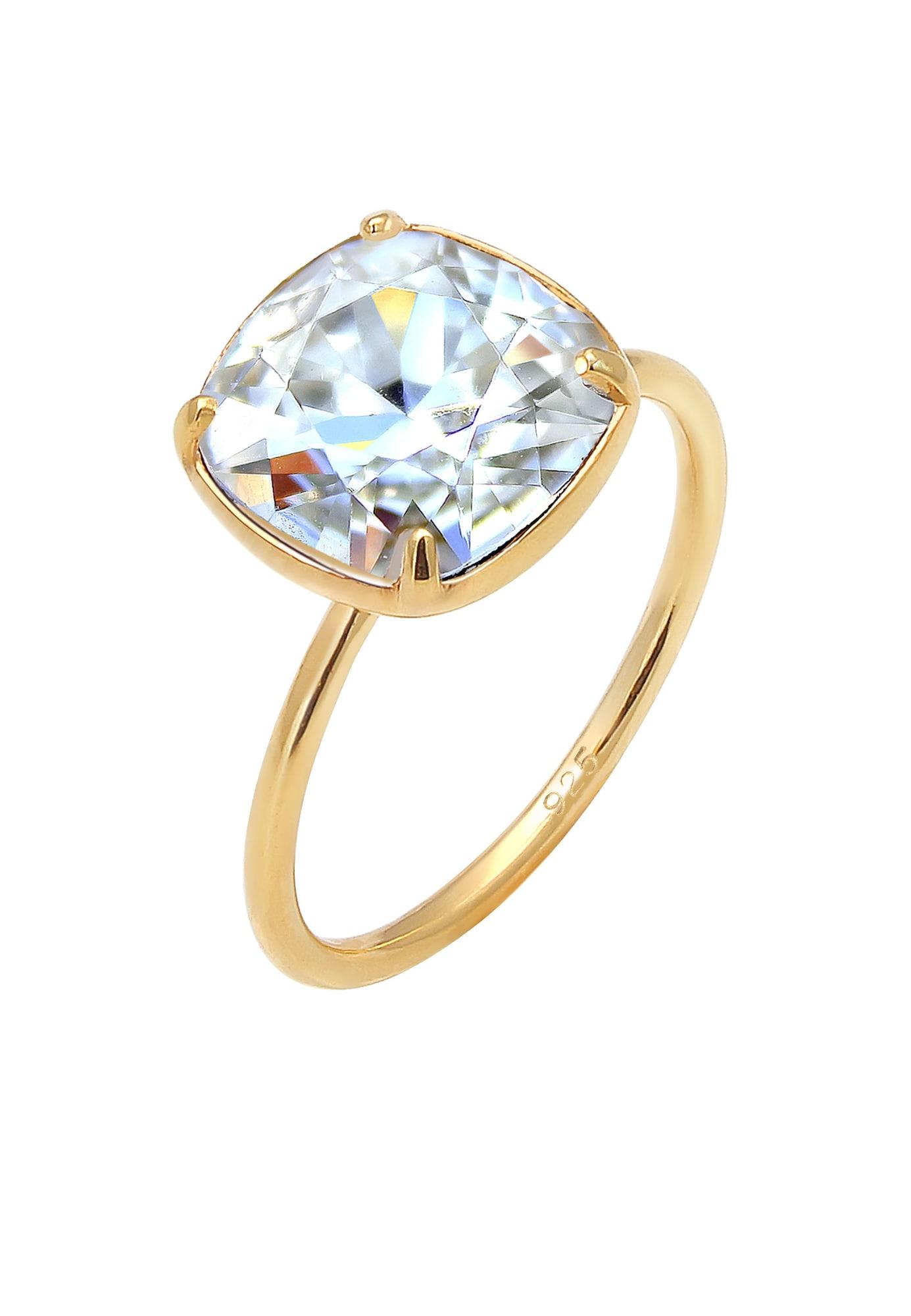 Ring Kristall Ring, Verlobungsring | Schmuck > Ringe > Verlobungsringe | Gold | ELLI