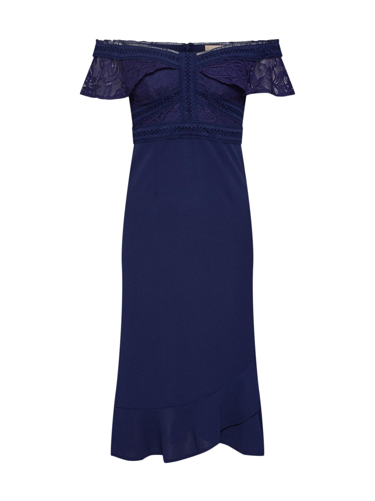 Koktejlové šaty Reign Supreme námořnická modř Love Triangle