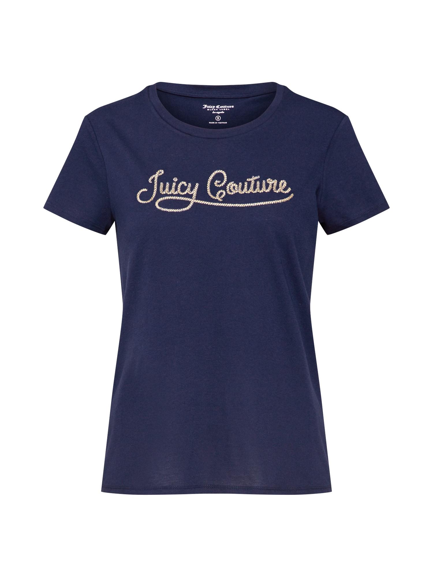 Tričko JUICY ROPE MICRO TERRY TEE modrá Juicy Couture Black Label