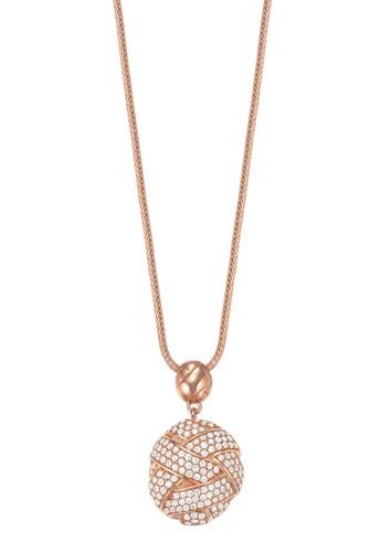 Halskette, mit Zirkonia, »ESPRIT-JW50060 rose, ESNL02752C800«