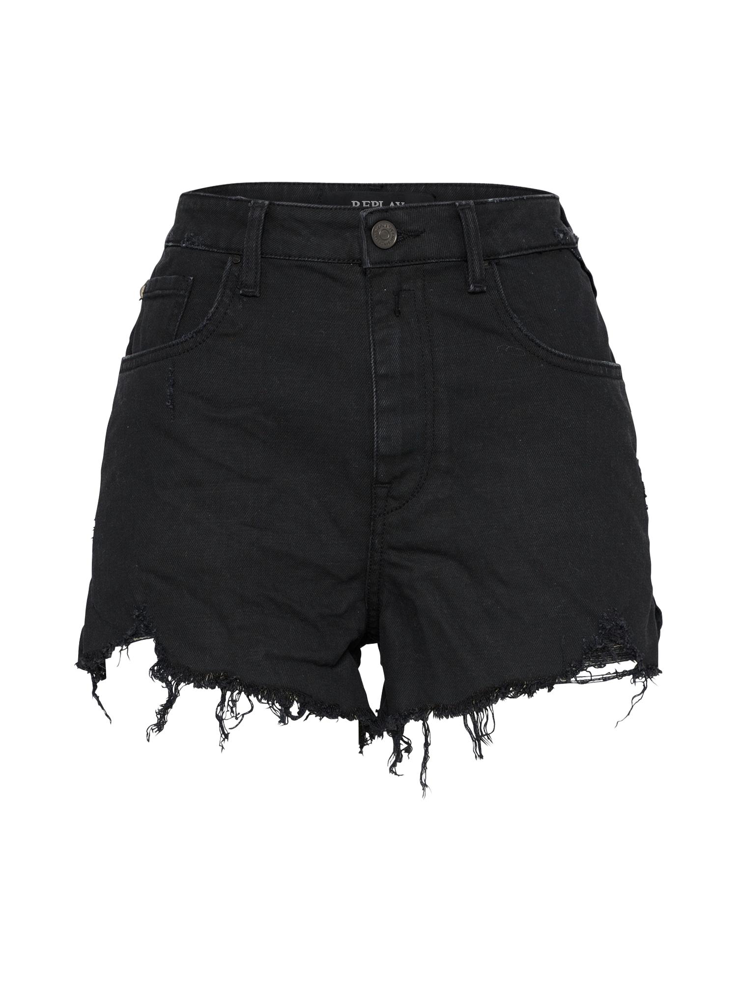 REPLAY Dames Jeans zwart