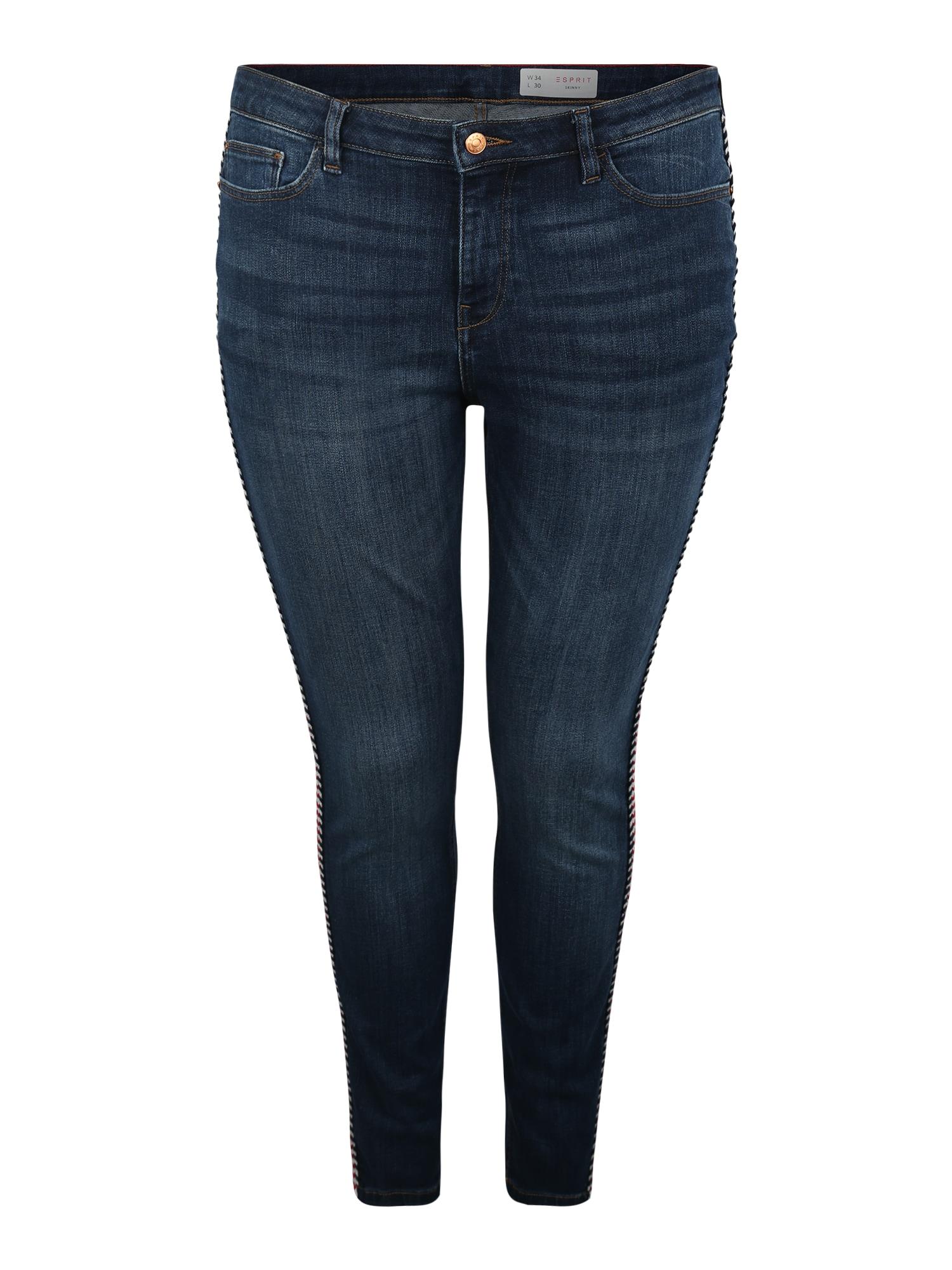 Džíny modrá džínovina Esprit Curves