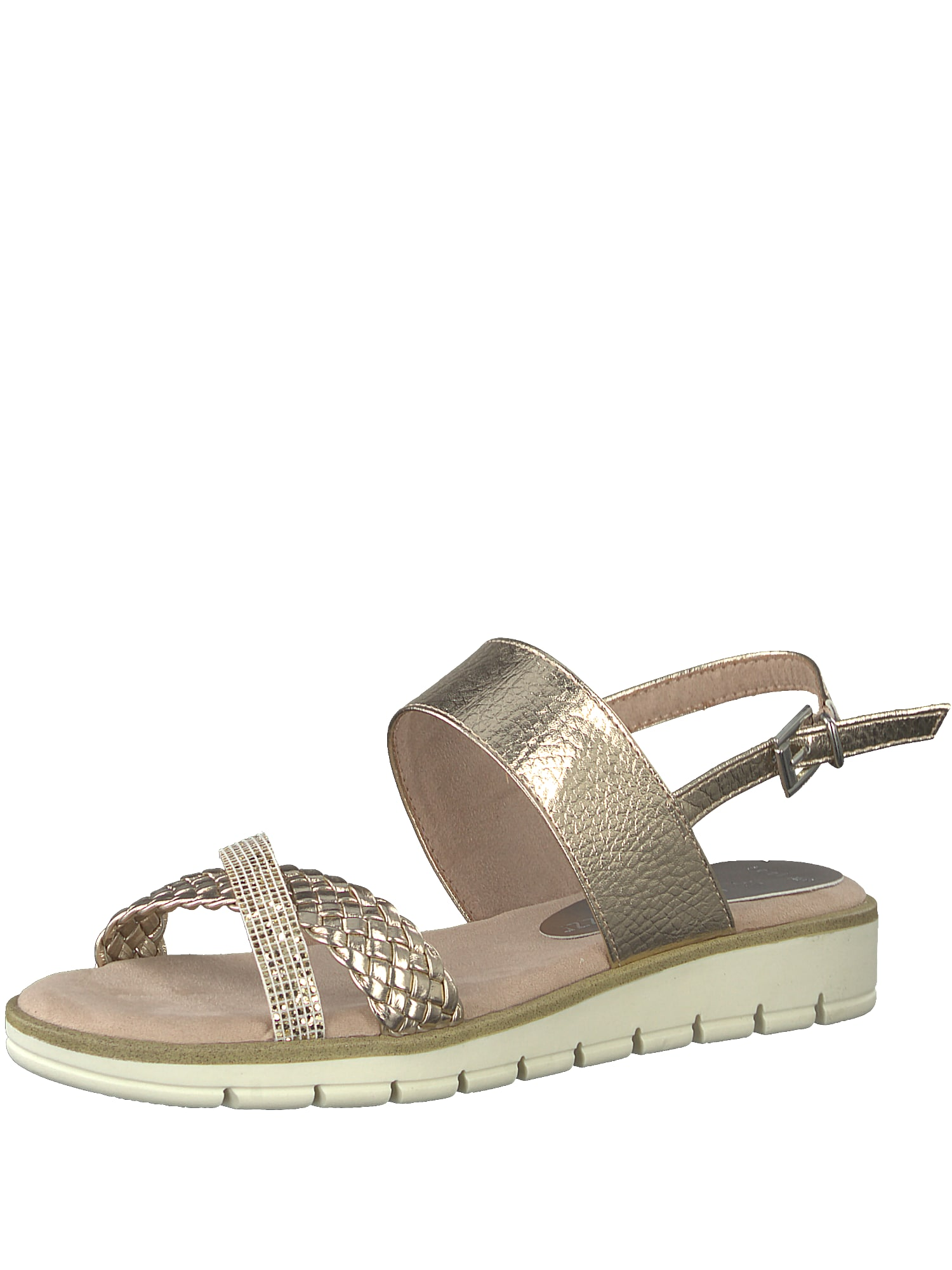 Páskové sandály zlatá růžová MARCO TOZZI