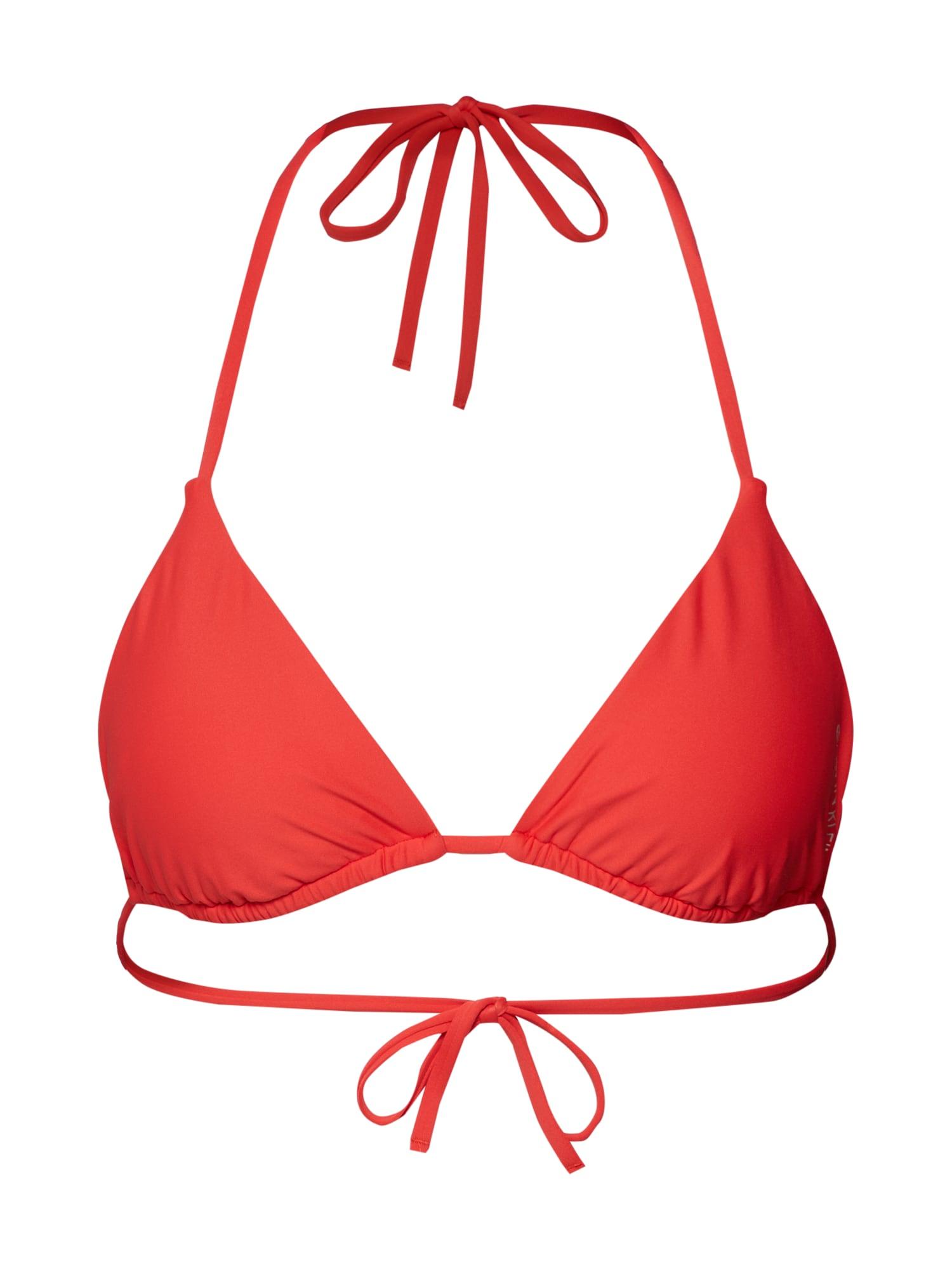 Horní díl plavek světle červená Calvin Klein Swimwear