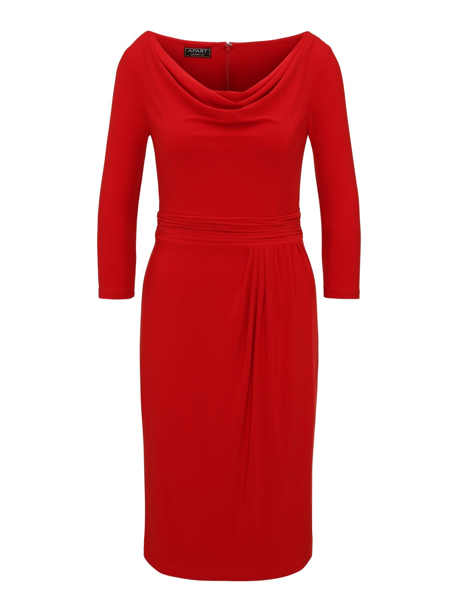 Jerseykleid mit Wasserfallkragen | Bekleidung > Kleider > Jerseykleider | Apart