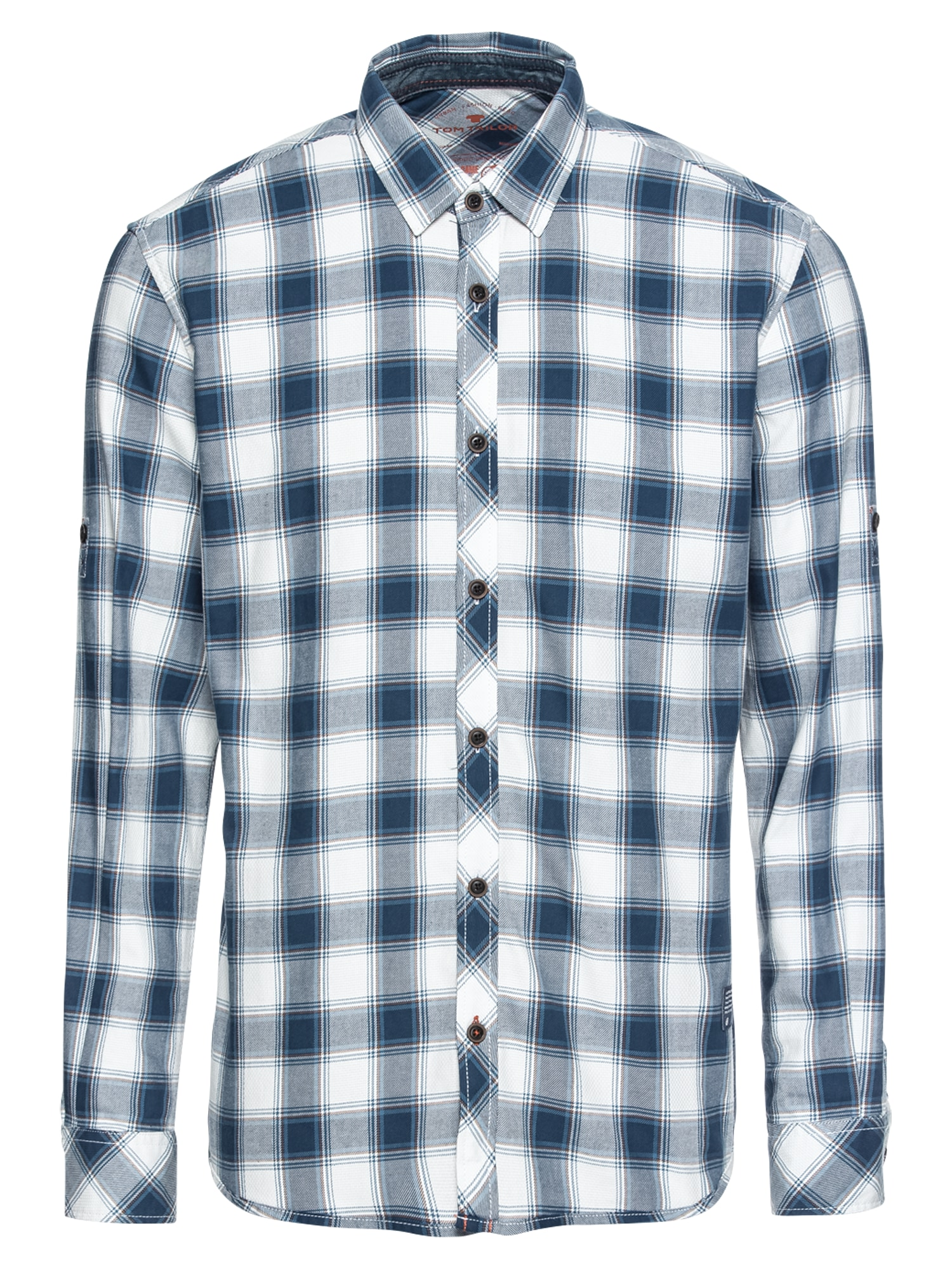 Košile kouřově modrá tmavě modrá bílá TOM TAILOR