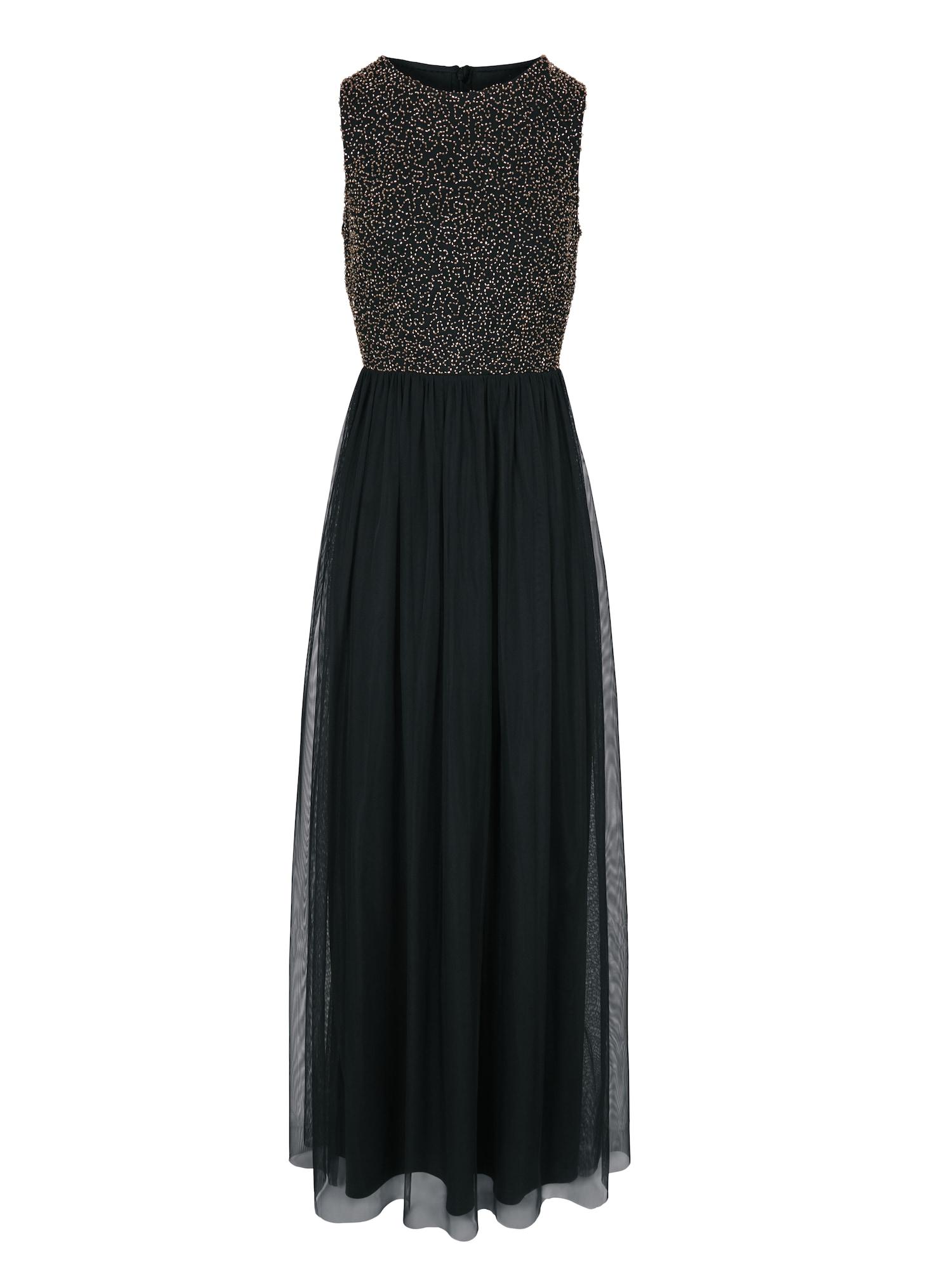 Společenské šaty zlatá černá Heine