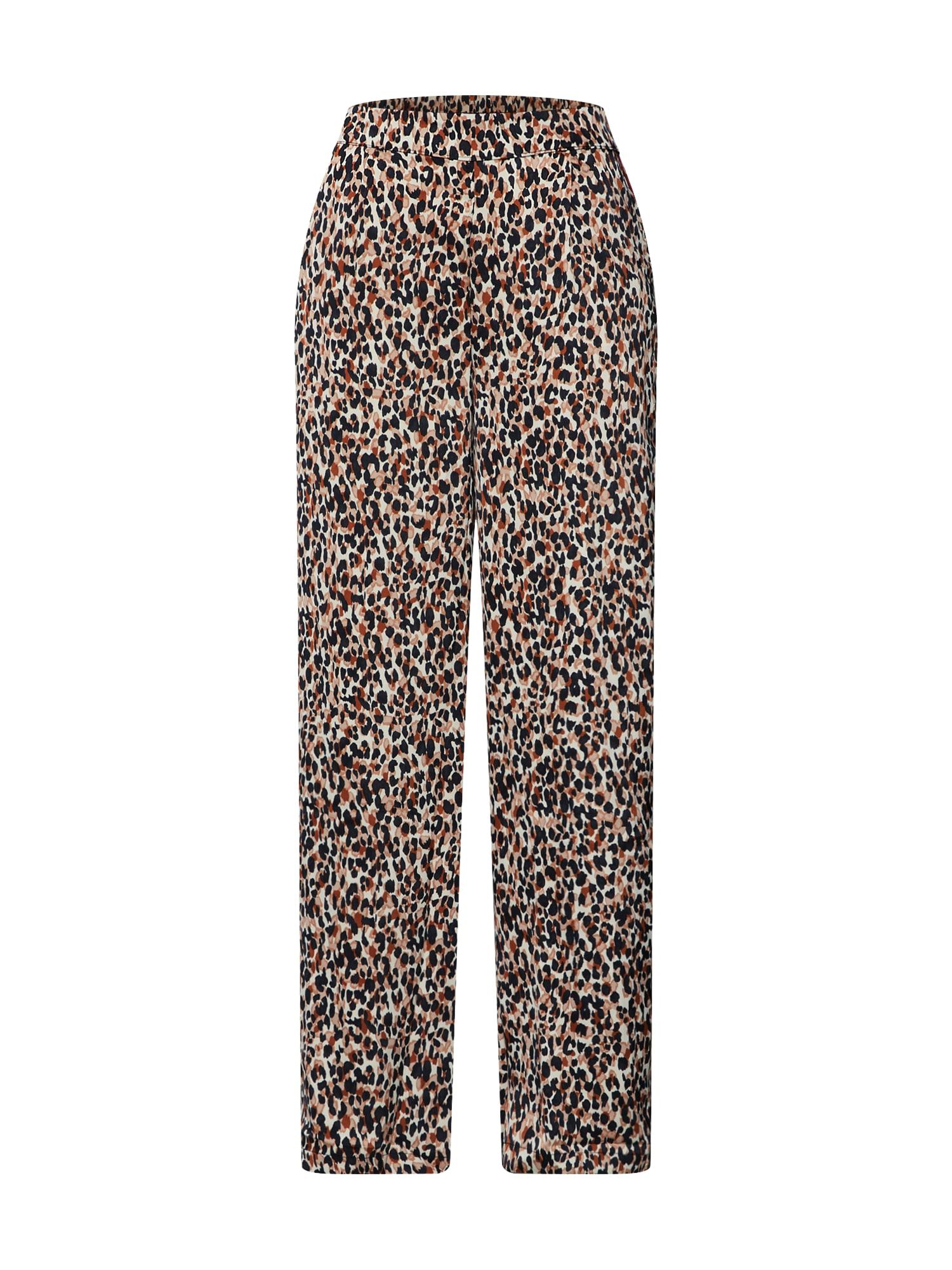 Kalhoty se sklady v pase DANNA krémová mix barev ONLY