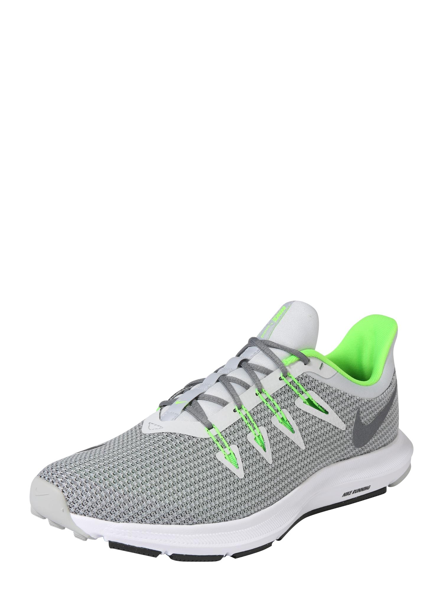 Běžecká obuv QUEST šedá limetková NIKE