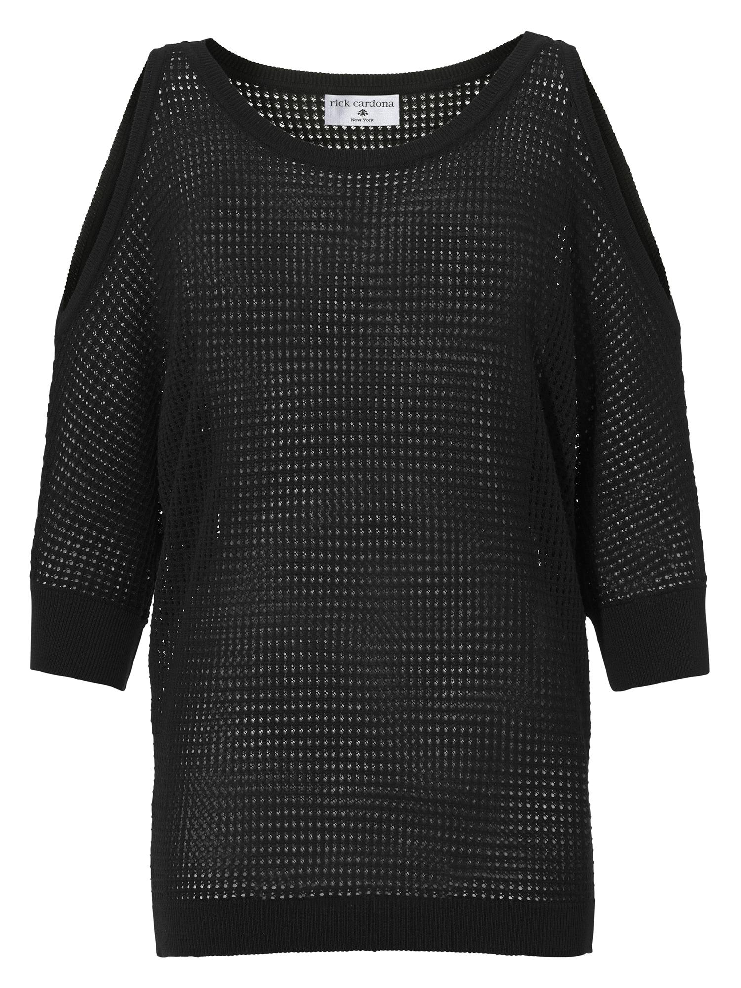 Maxi svetr černá Heine