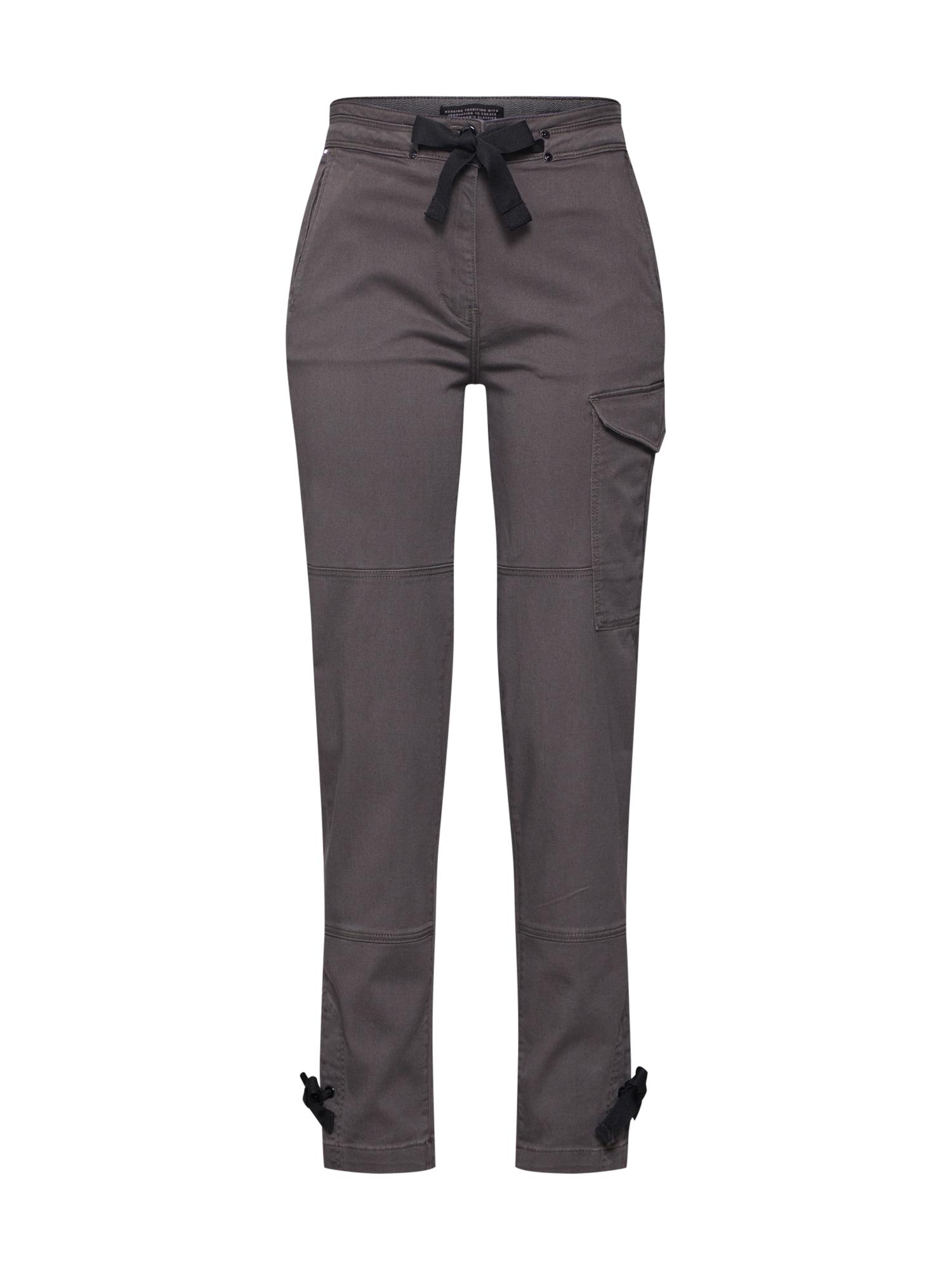 Kalhoty Blossite High Straight Cargo čedičová šedá G-STAR RAW